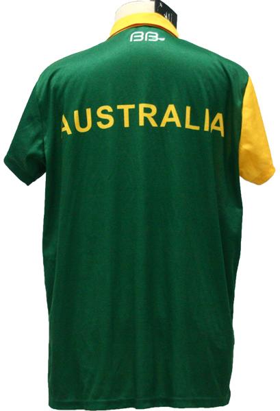 Australia Green White Yellow and Black Baseball Uniforms, T-Shirts