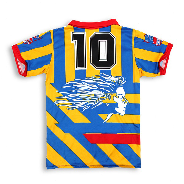Blue Red White Black and Yellow Soccer Uniforms Jerseys