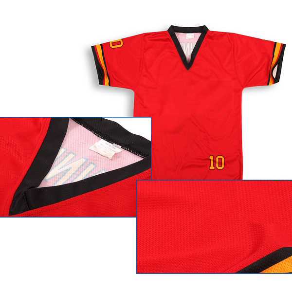 Red Black Yellow Soccer Uniforms Jerseys