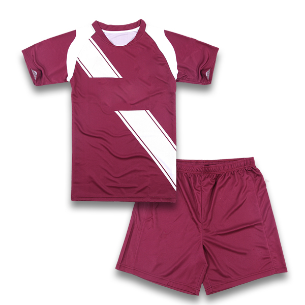 Purple and White Soccer Uniforms, Jersey and Shorts