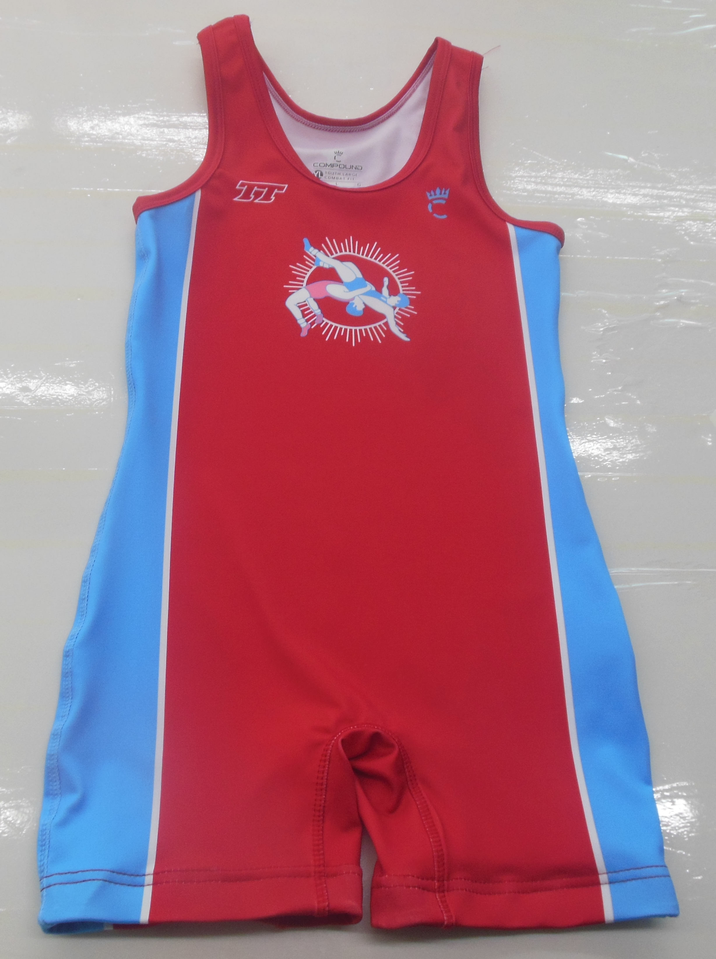 Red Blue and White Baseball Uniforms, Kids Swimming Suits