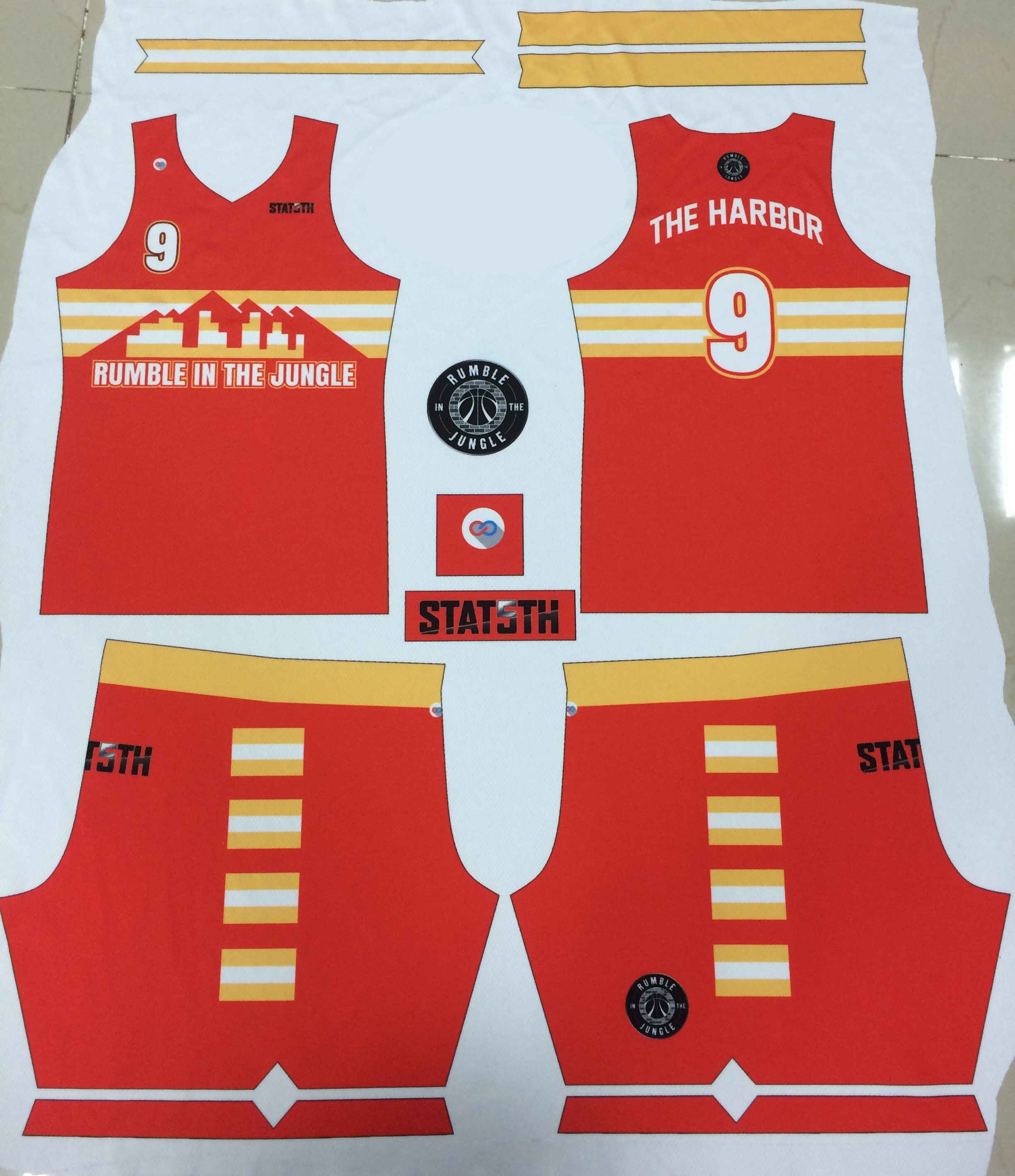 custom uniform printed by sublimation on polyester fabric