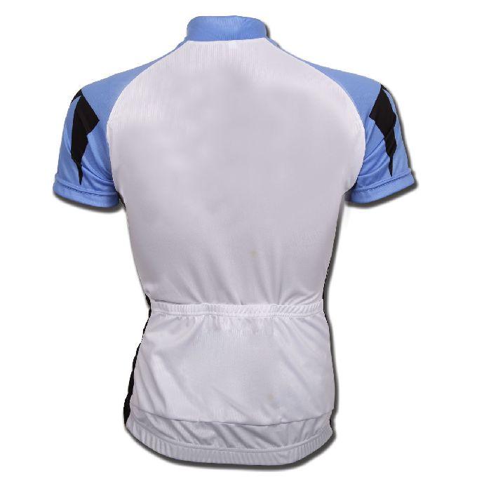White Sky Blue and Black Baseball Uniforms,