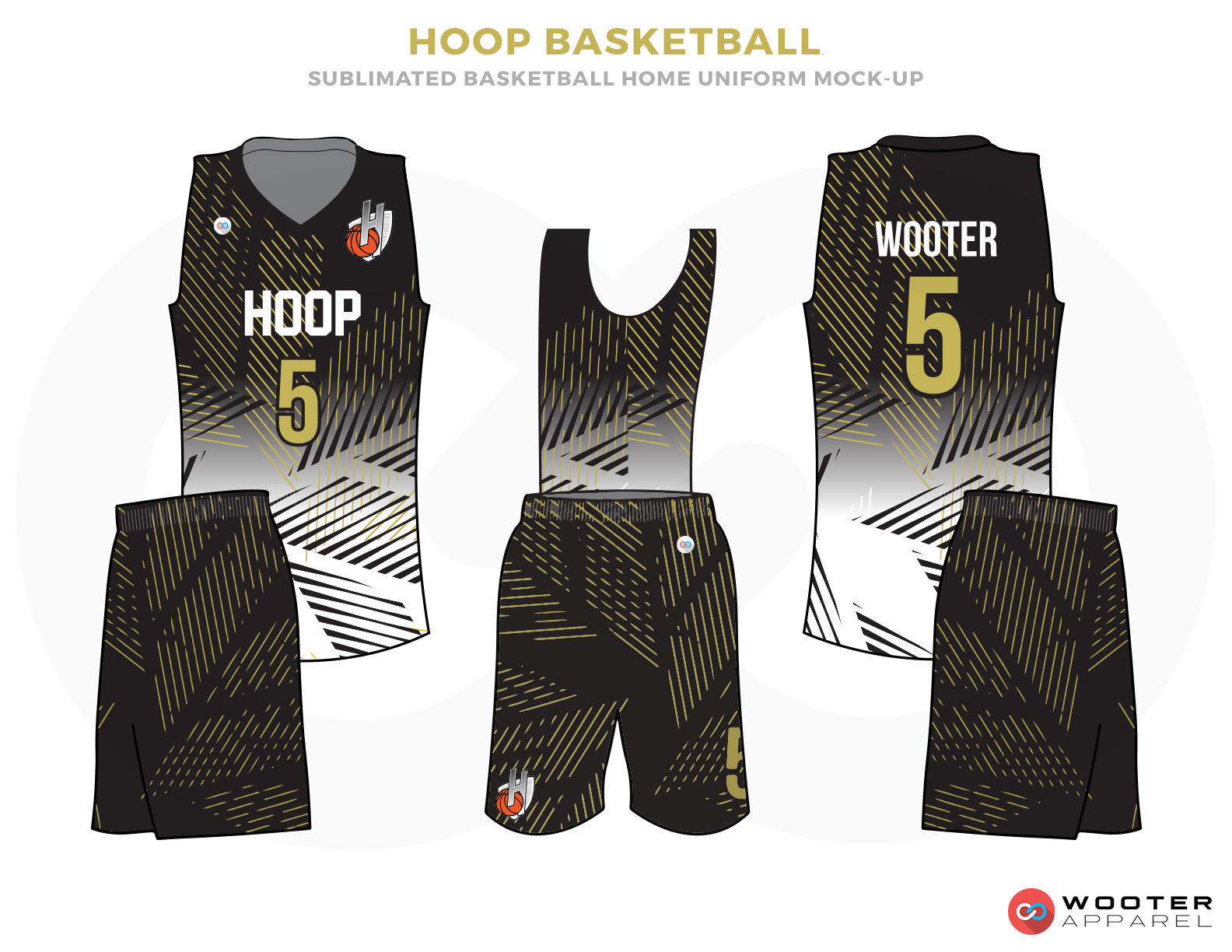 HOOP BASKETBALL Grey White and Green Basketball Uniforms, Jersey and Shorts