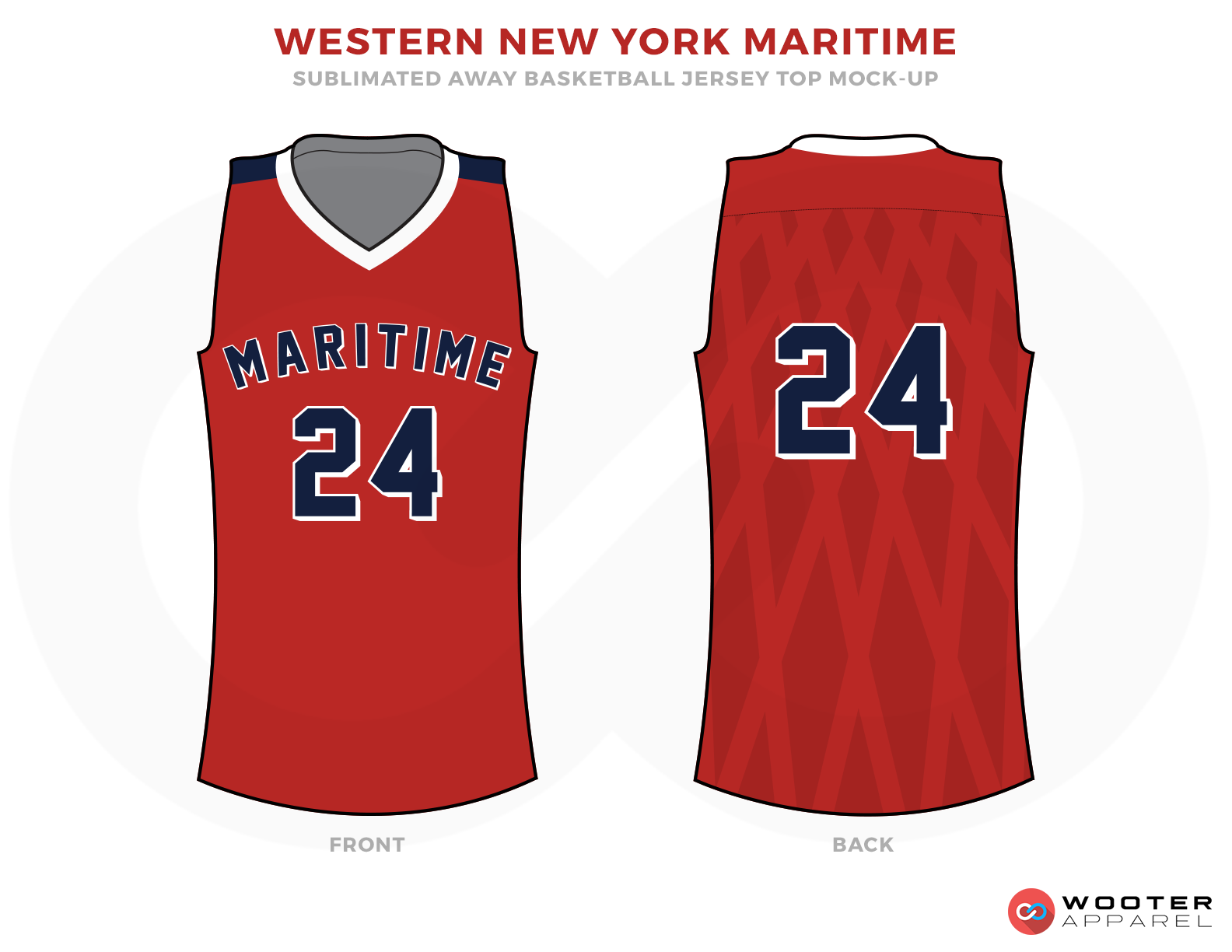 WESTERN NEW YORK MARITIME Red White and Blue Basketball Uniforms, Jersey