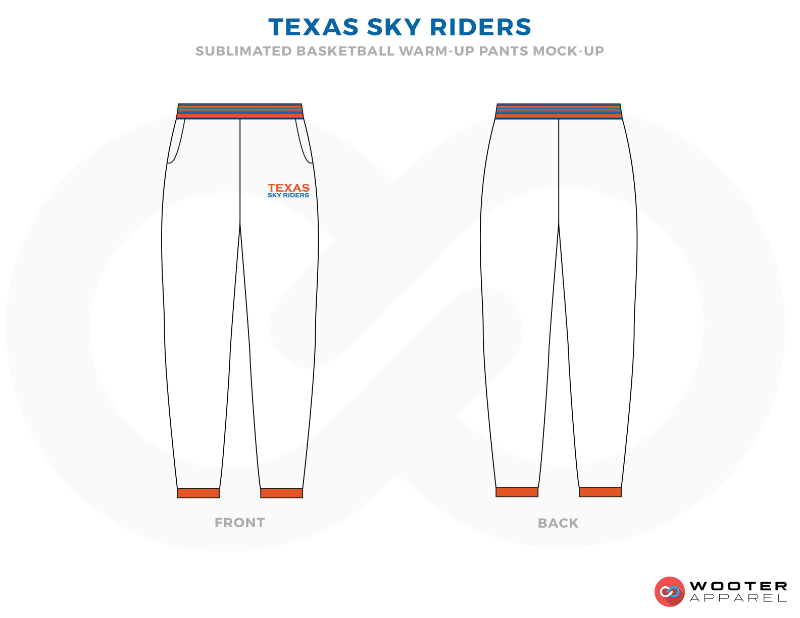 TEXAS SKY RIDERS White Orange and Grey Basketball Uniforms, Jersey and Trousers