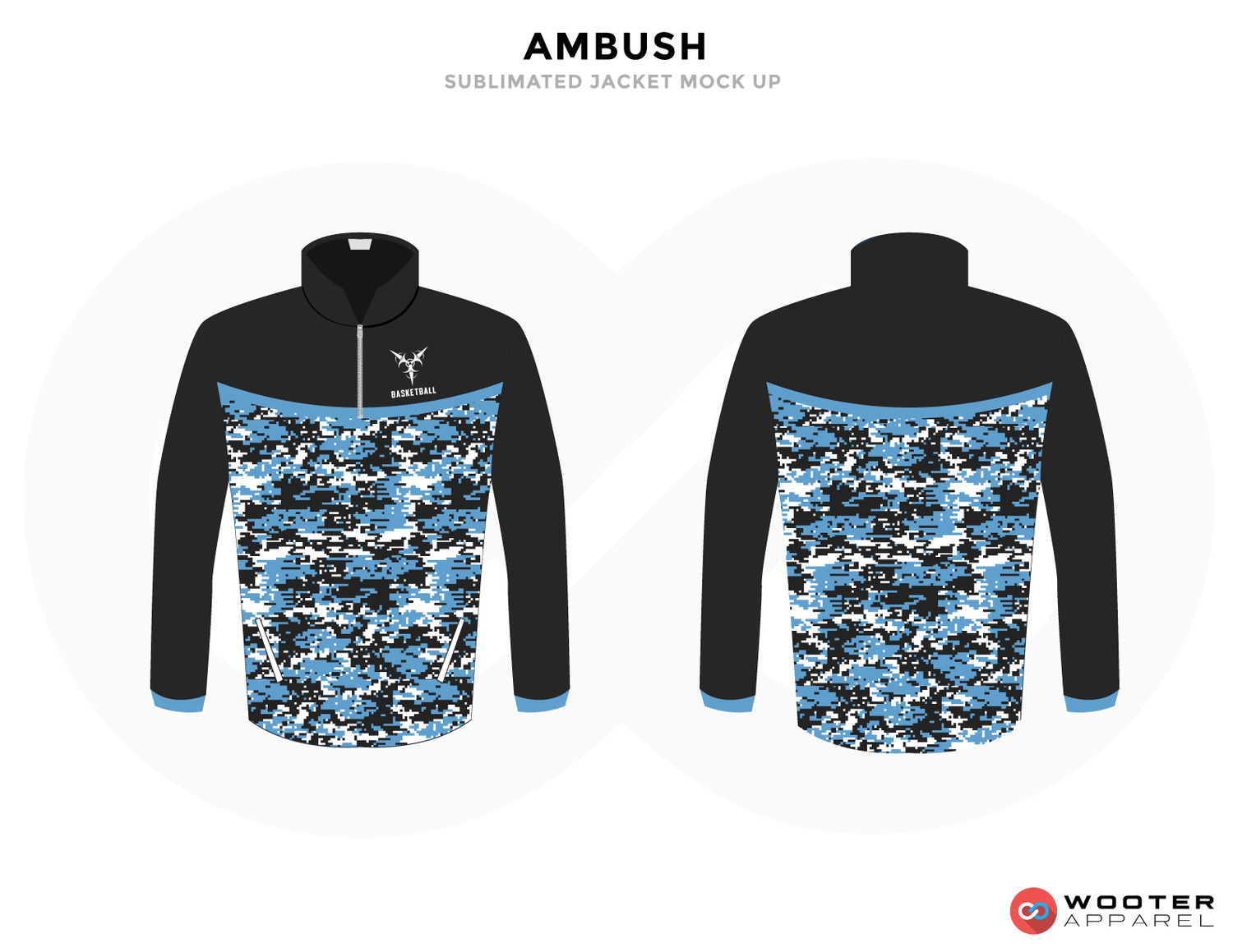AMBUSH Black White and Blue Baseball Uniforms, Jackets