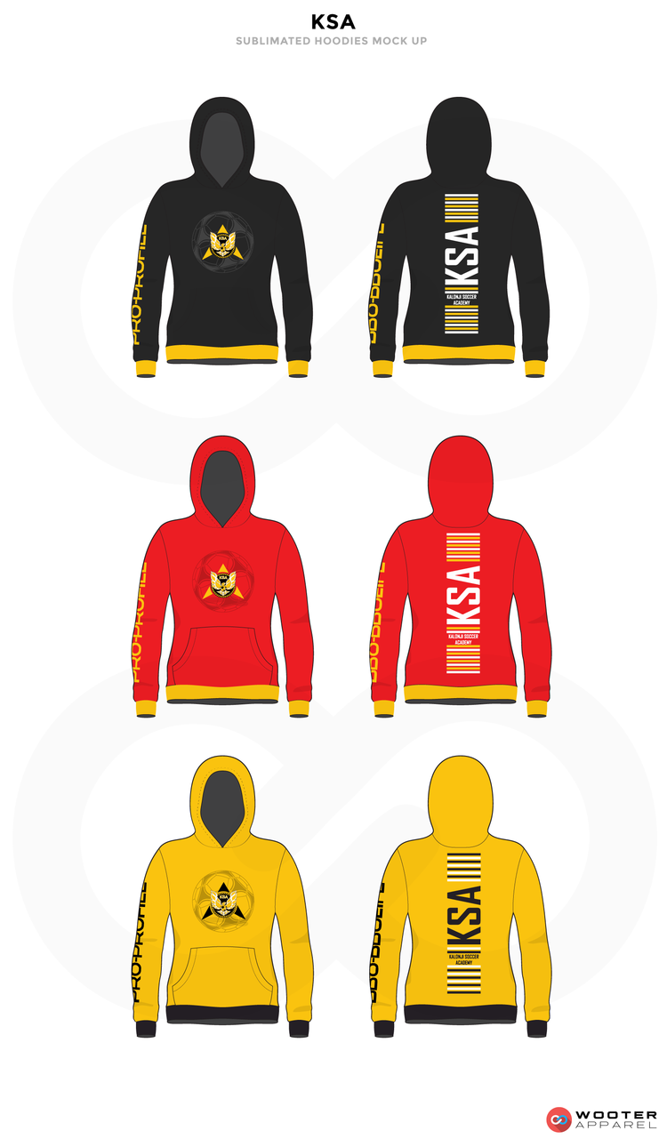 KSA Black Grey White Red and Yellow Baseball Uniforms, Hoodies