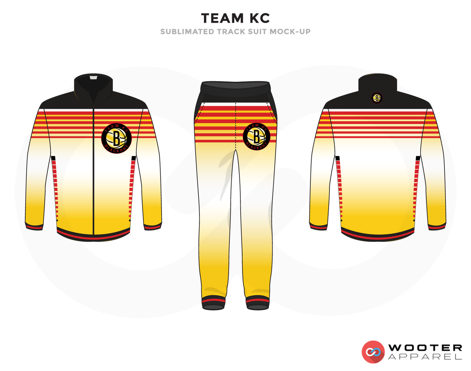 TEAM KC Black Red White and Yellow Baseball Uniforms, Jacket and Pants
