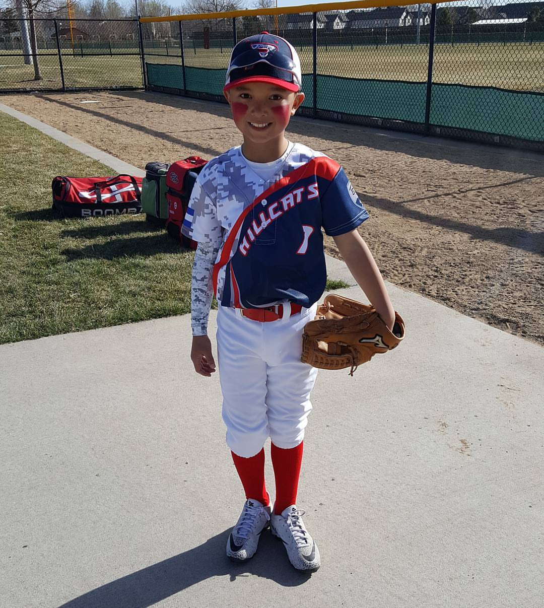 Blue Red White Gray baseball uniforms jersey shirts, pants