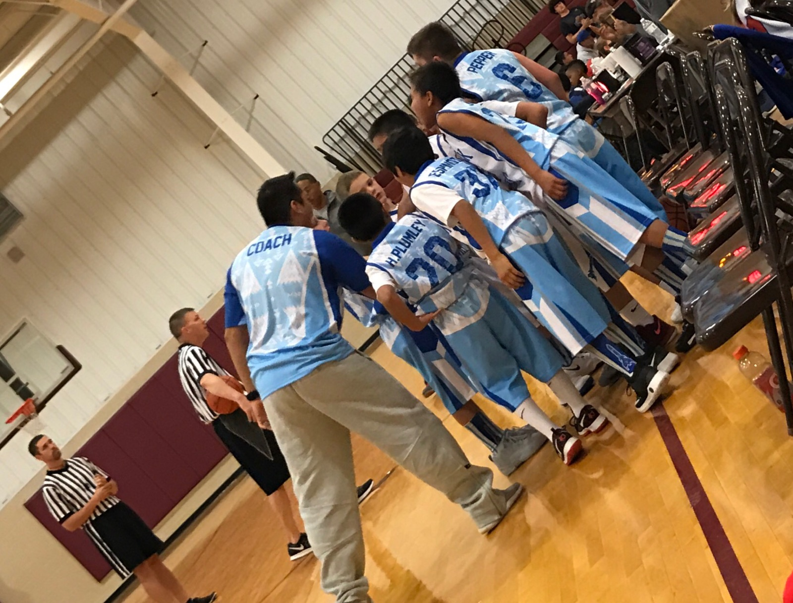 White blue sky blue Youth Basketball Uniforms jerseys and shorts