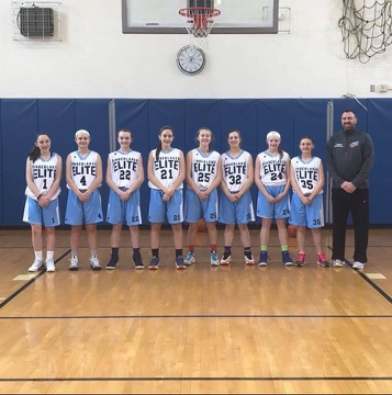 Womens Basketball White Blue Jerseys Uniforms Wooter Apparel
