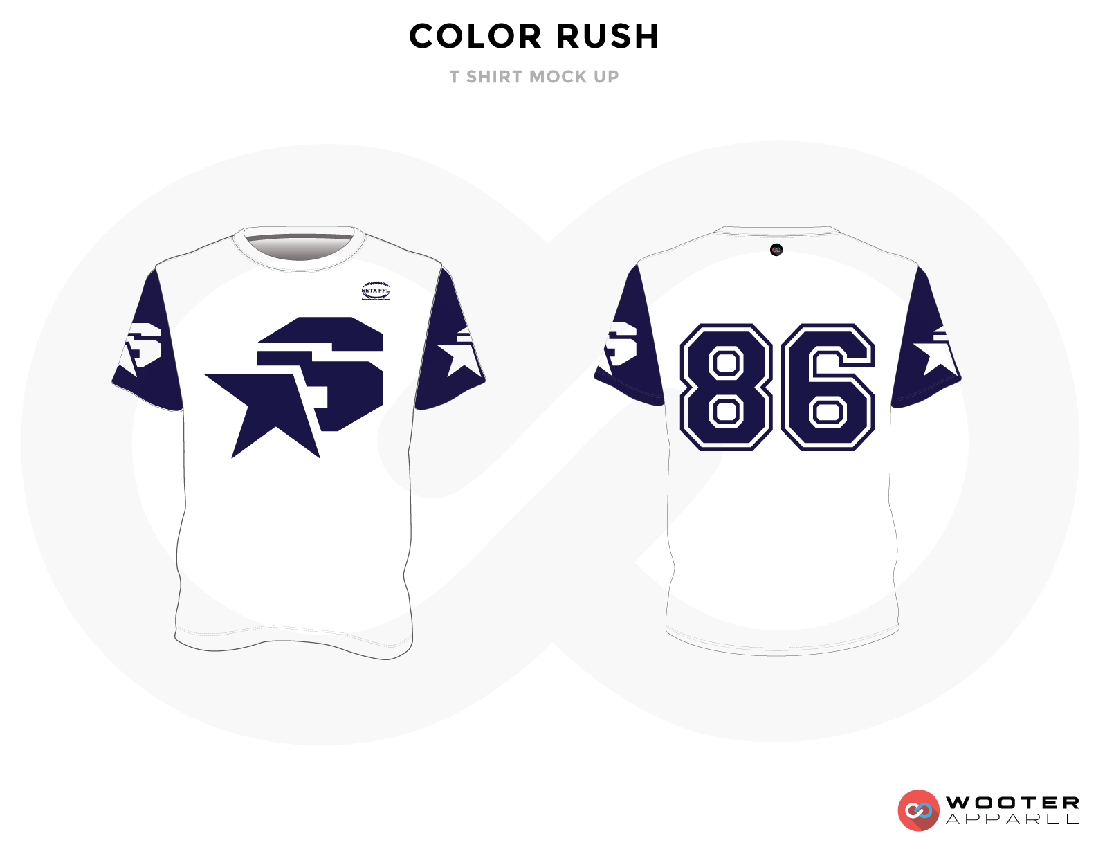 COLOR RUSH White and Blue Premium Shooting Shirt