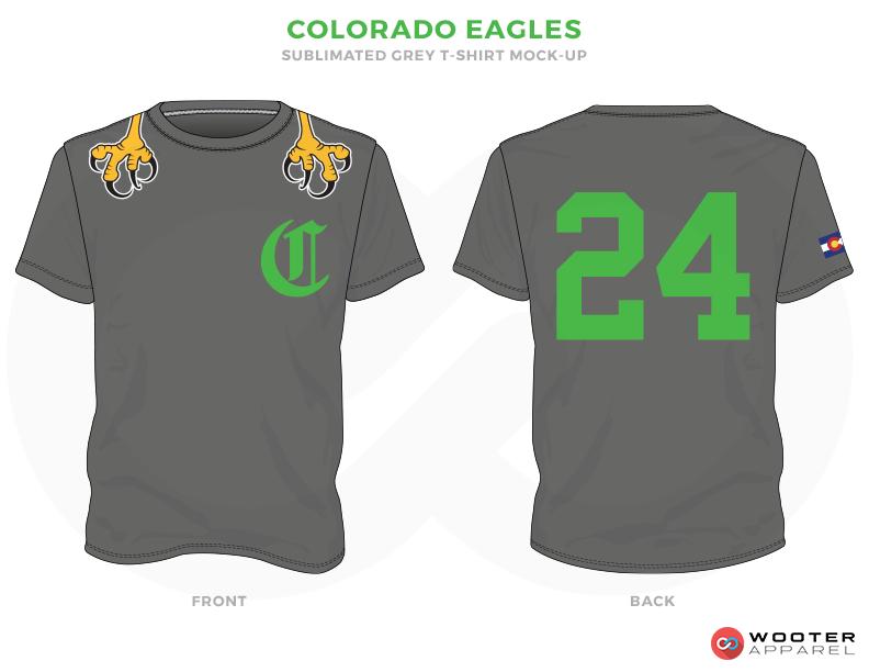 COLORADO EAGLES Grey Green and Yellow Premium Shooting Shirt