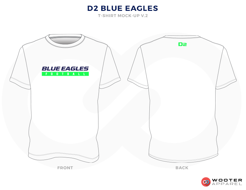 D2 BLUE EAGLES White, Black and Green Premium Shooting Shirt