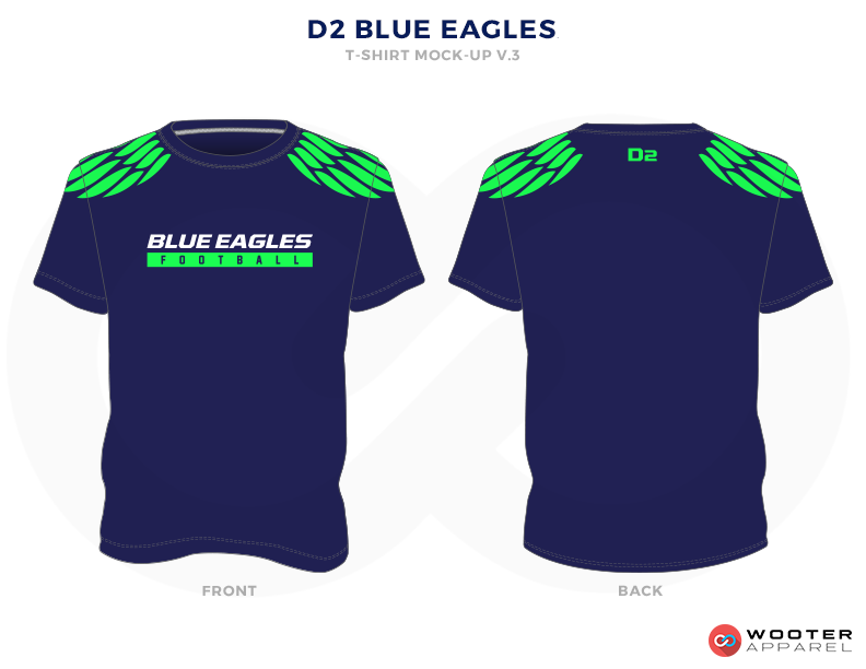 D2 BLUE EAGLES Blue, Green and White Premium Shooting Shirt