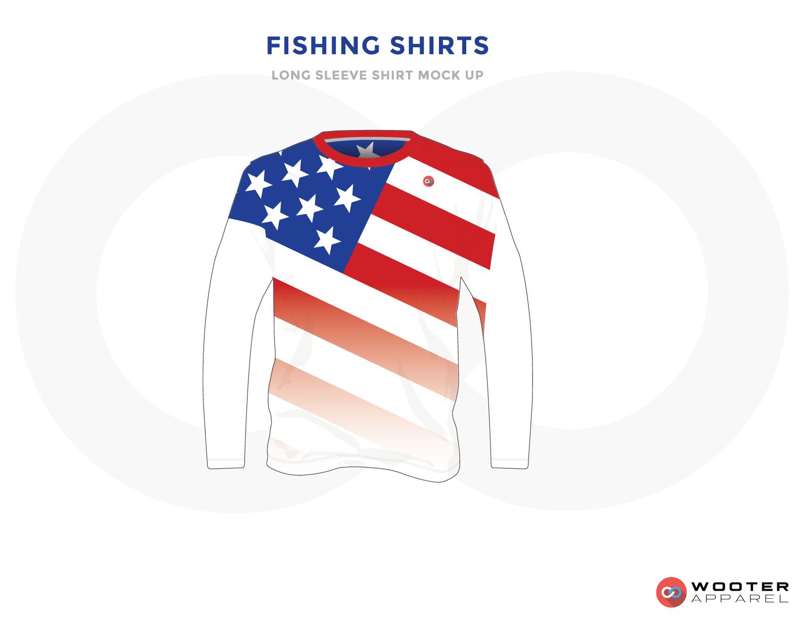 FISHING SHIRTS, Blue, White and Red Premium Shooting Shirt