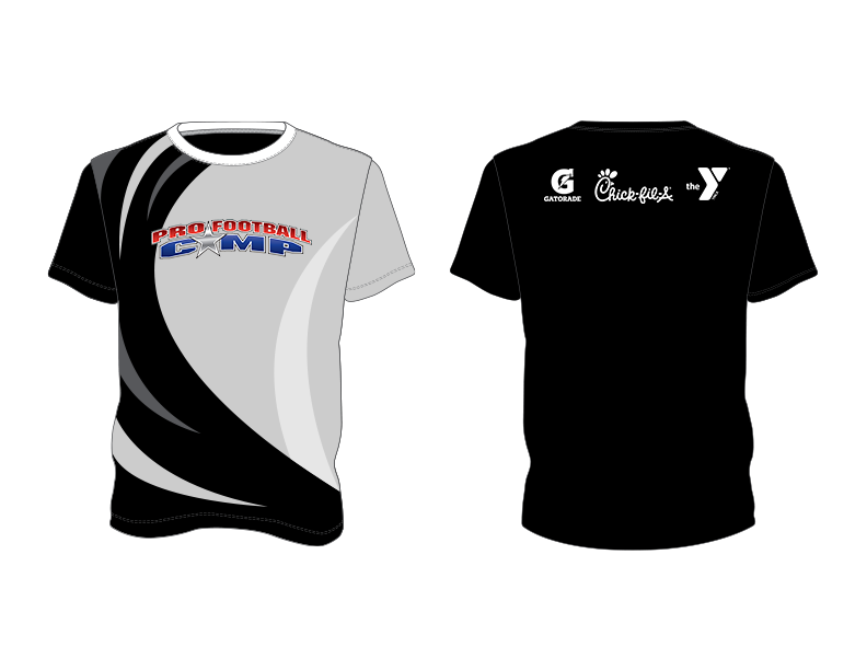 Black Grey White Red and Blue Premium Shooting Shirt