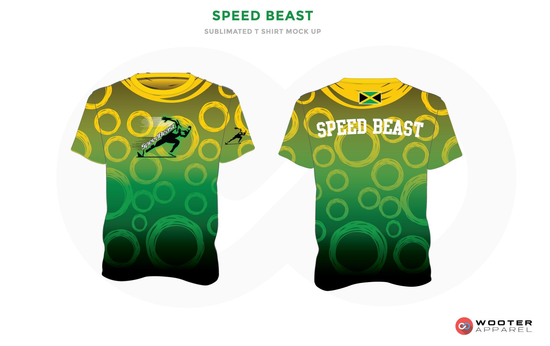 SPEED BEAST Yellow Green White and Black Premium Shooting Shirt