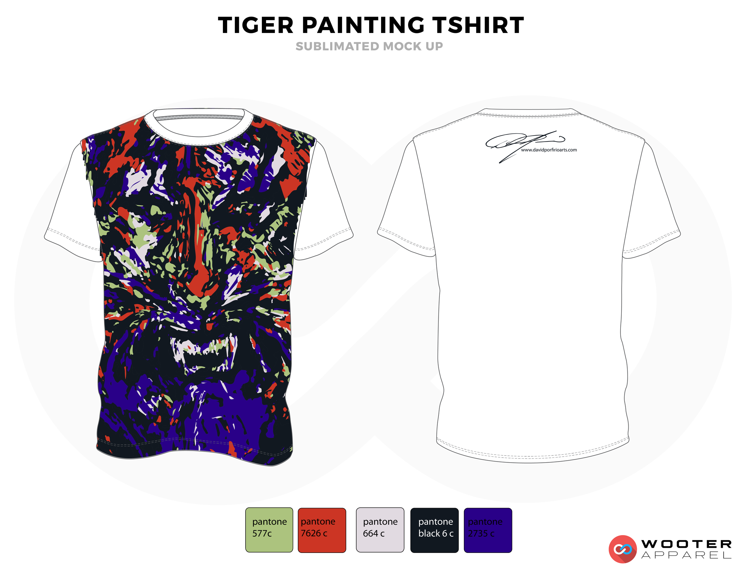TIGER PAINTING SHIRT White Blue Red Green and Black Premium Shooting Shirt