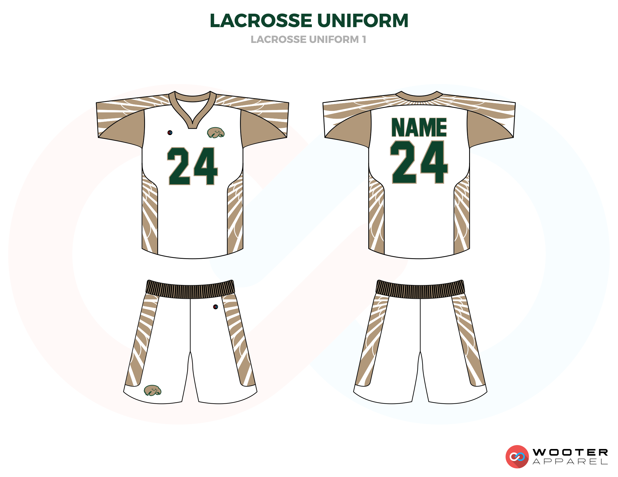 Black Brown and White Lacrosse Uniforms, Reversible Pinnies, Jerseys, Shorts