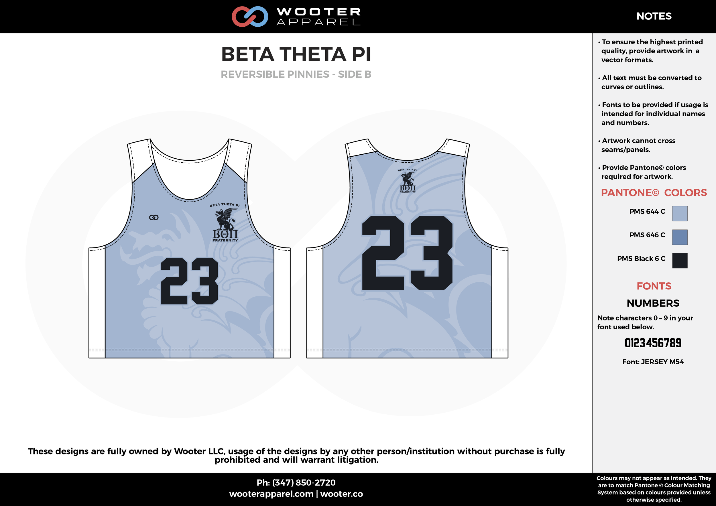 Beta Theta Pi Blue and White Lacrosse Uniforms, Reversible Pinnies, Jerseys,