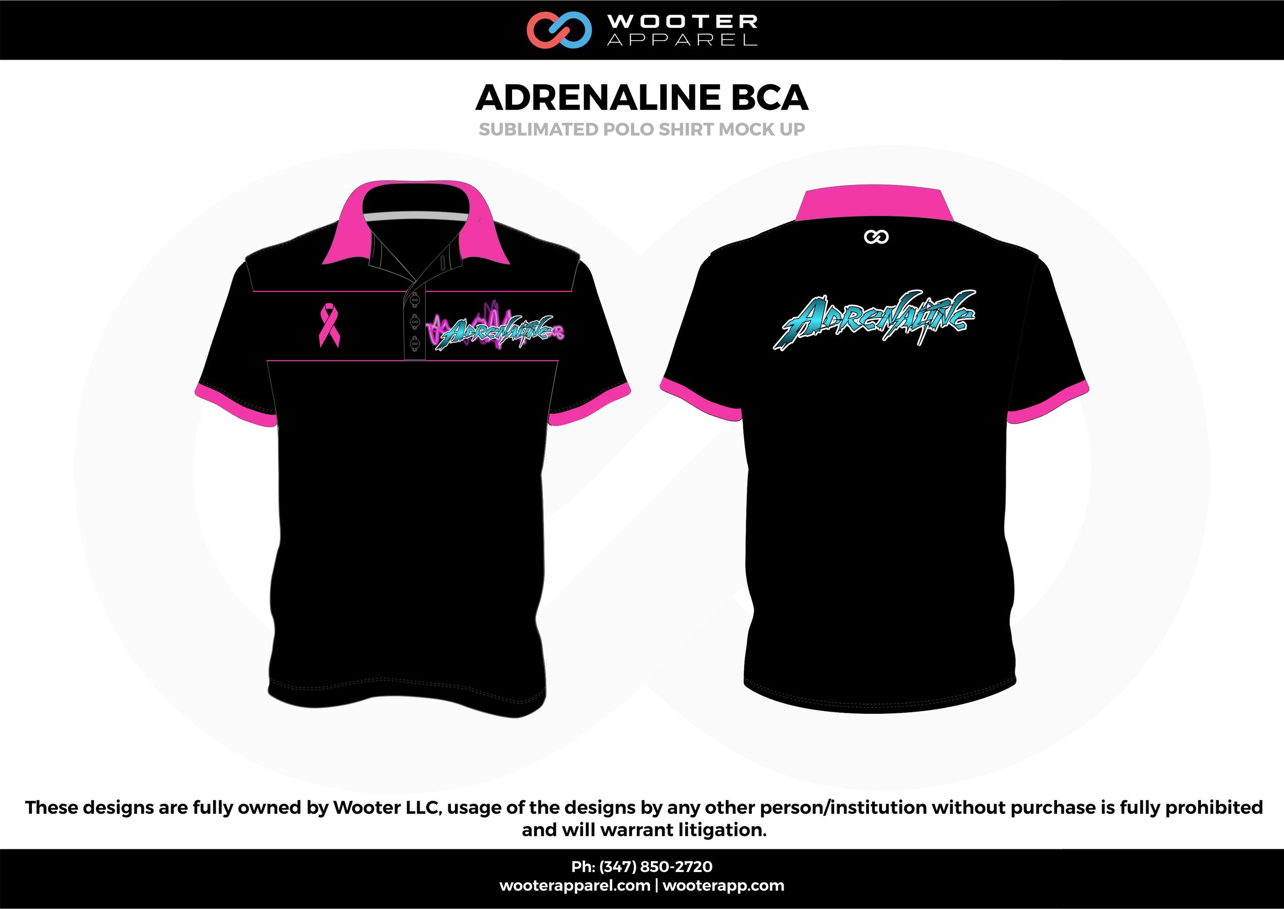ADRENALINE BCA black pink blue Polo Shirts