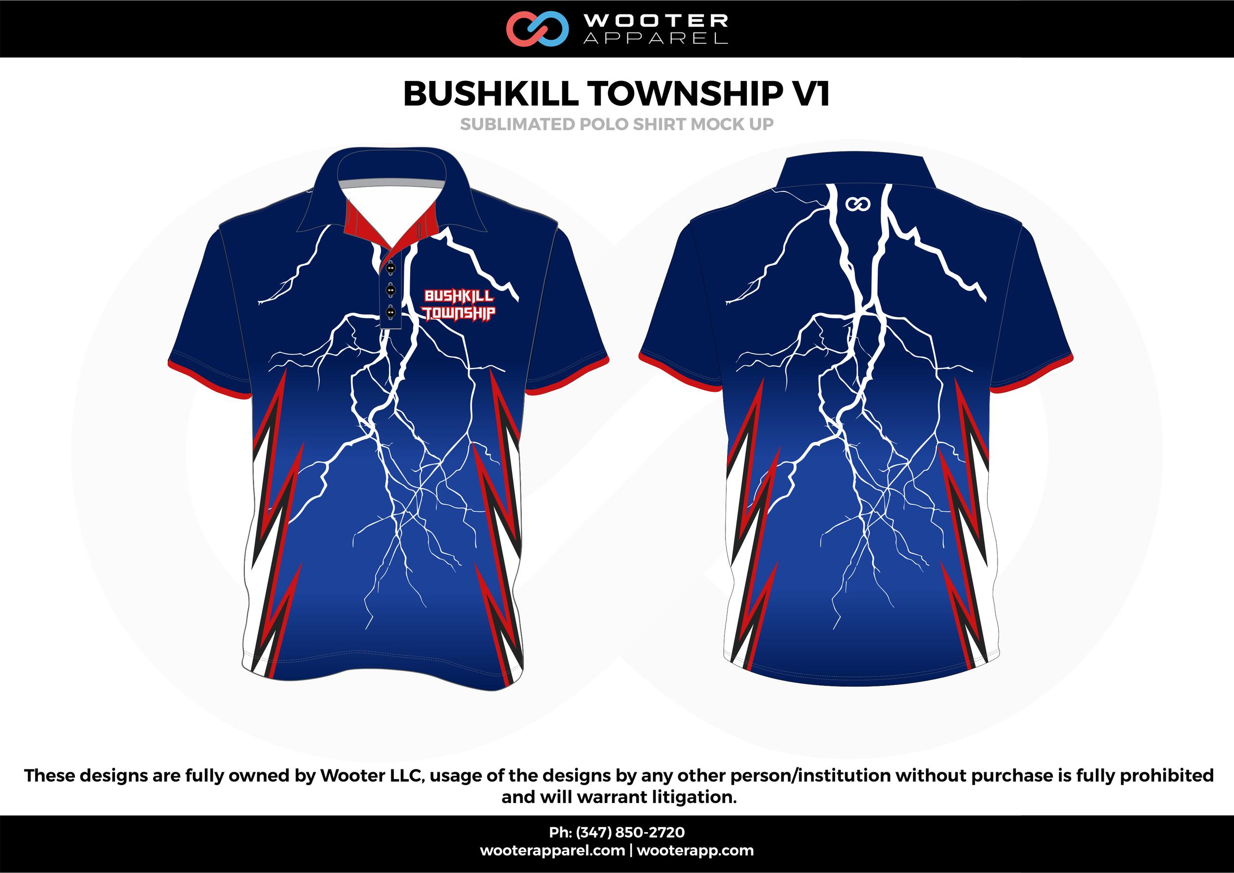 BUSHKILL TOWNSHIP VI blue red white Polo Shirts