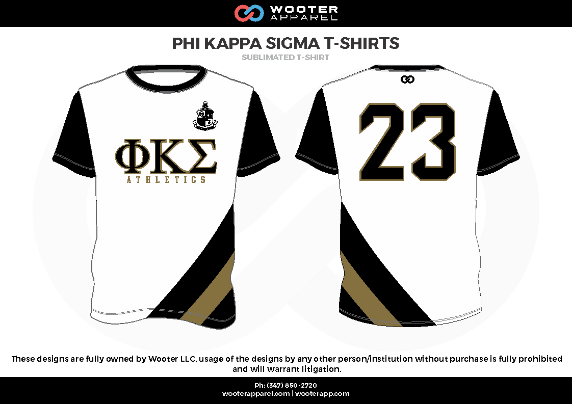 PHI KAPPA SIGMA T-SHIRTS white black  beige Short Sleeve Shirt