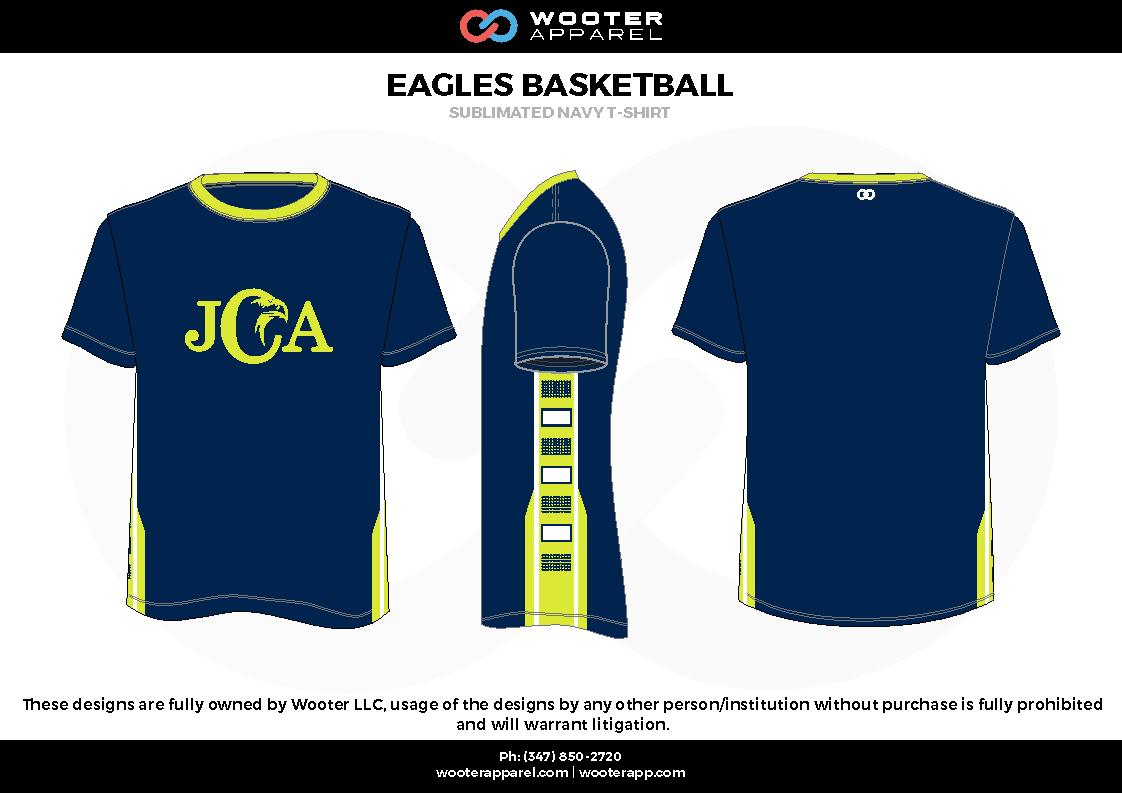 EAGLES BASKETBALL blue green white Short Sleeve Shirt
