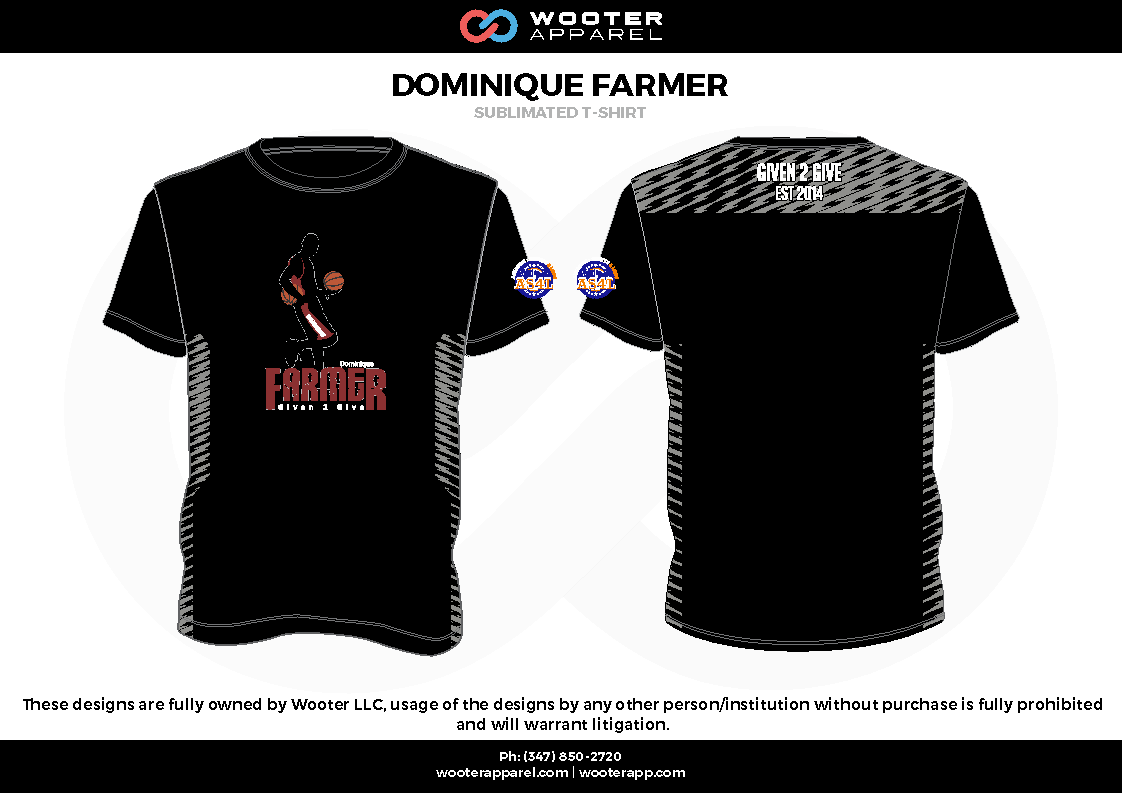 DOMINIQUE FARMER black red gray Short Sleeve Shirt