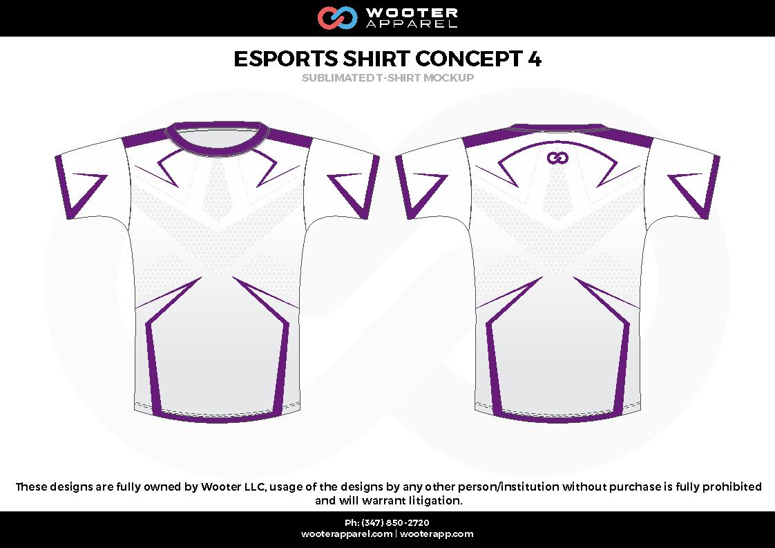 ESPORTS SHIRT CONCEPT 4 white purple e-sports jerseys, shirts, uniforms