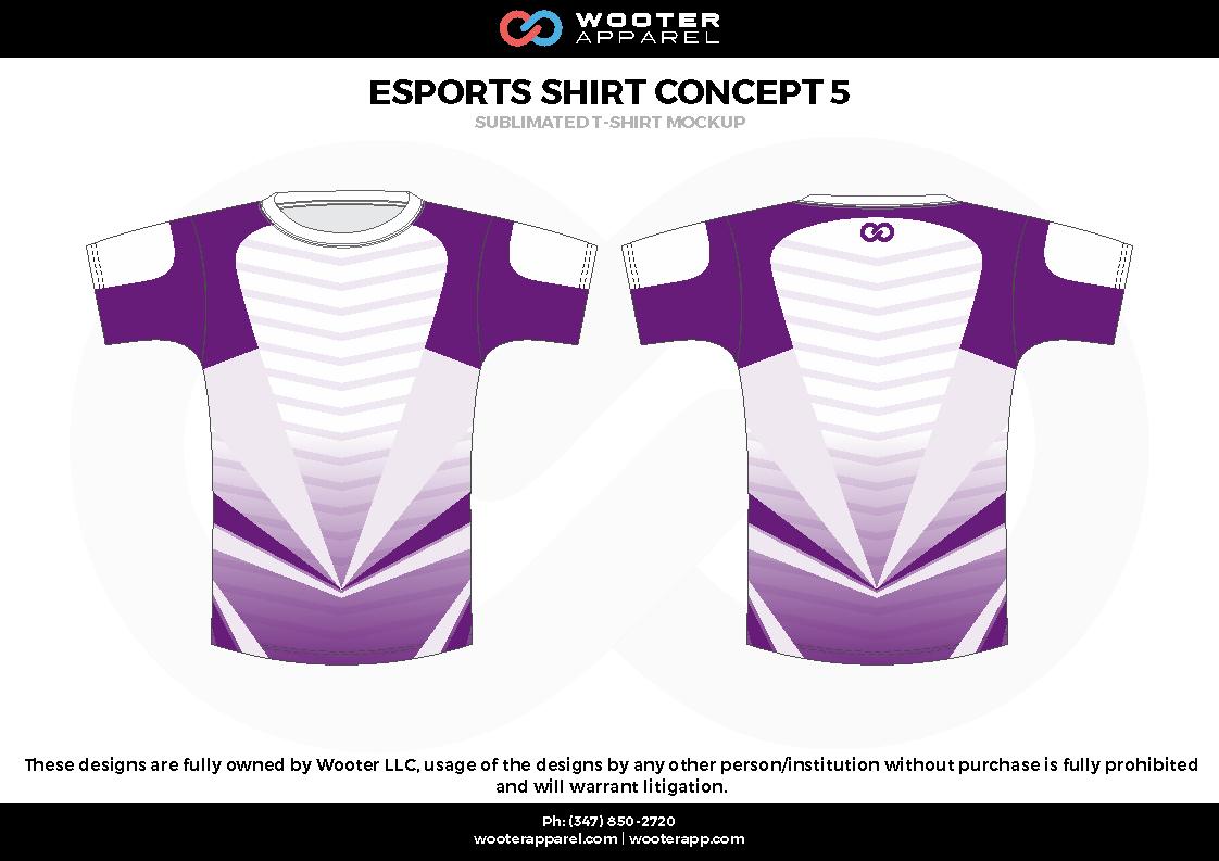 ESPORTS SHIRT CONCEPT 5 purple white e-sports jerseys, shirts, uniforms