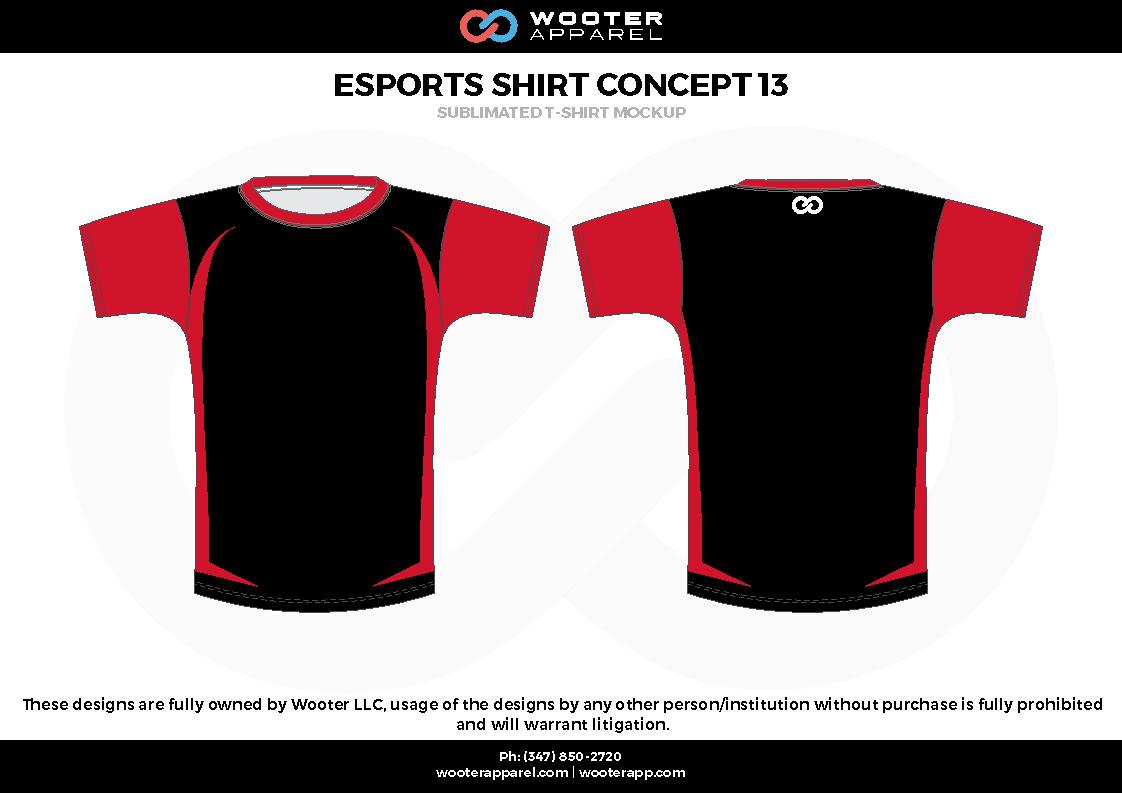 ESPORTS SHIRT CONCEPT 13 red black e-sports jerseys, shirts, uniforms