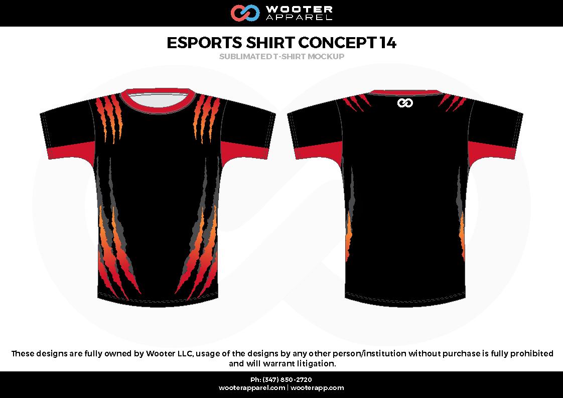 ESPORTS SHIRT CONCEPT 14 black red e-sports jerseys, shirts, uniforms