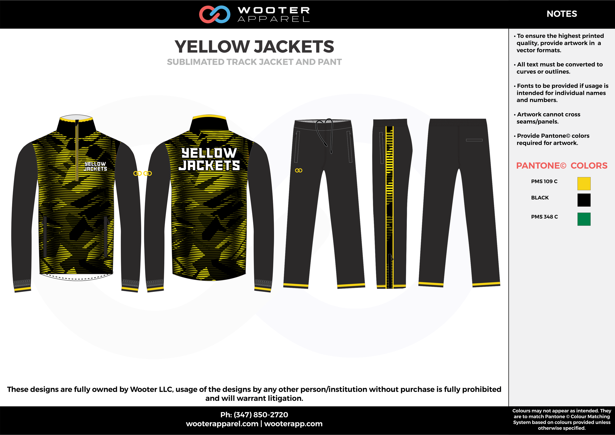 YELLOW JACKETS yellow black gray Track Jacket, Track Pants, Tracksuit, Warmup Suit
