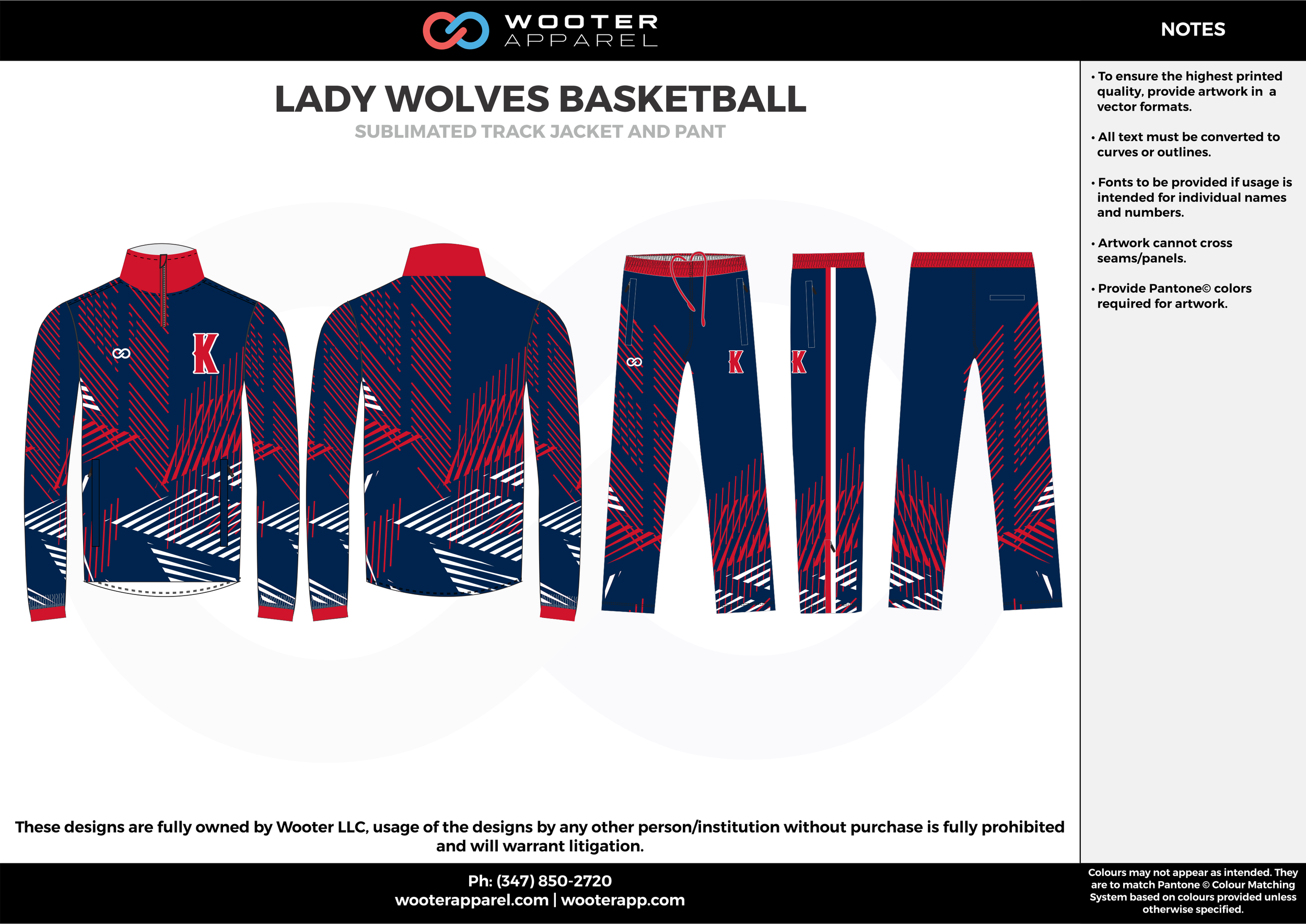 LADY WOLVES BASKETBALL blue red white  Track Jacket, Track Pants, Tracksuit, Warmup Suit