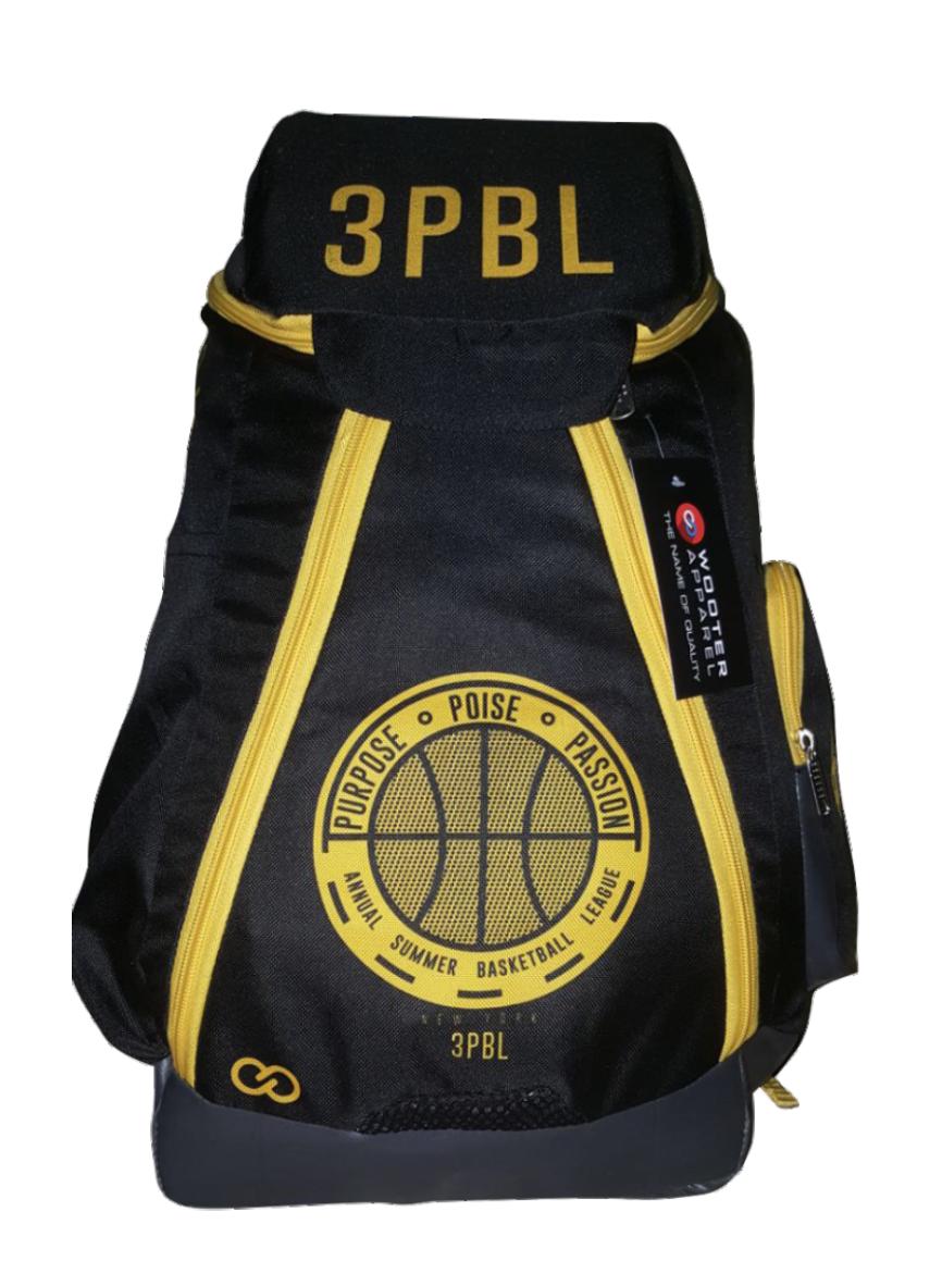 3PBL black yellow gray  basketball, baseball, backpacks