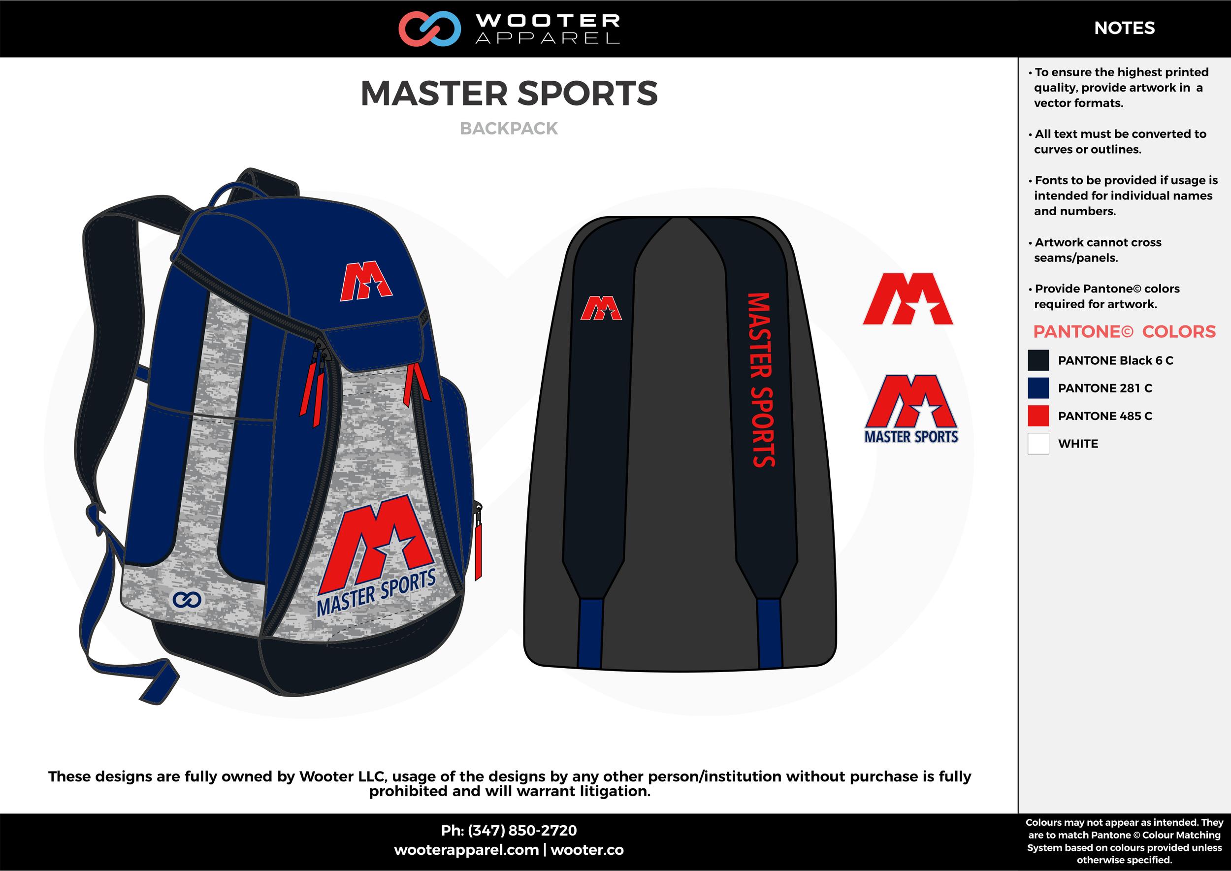 MATER SPORTS blue white red black  Custom Basketball Backpacks, Bags, Nike Elite Bags