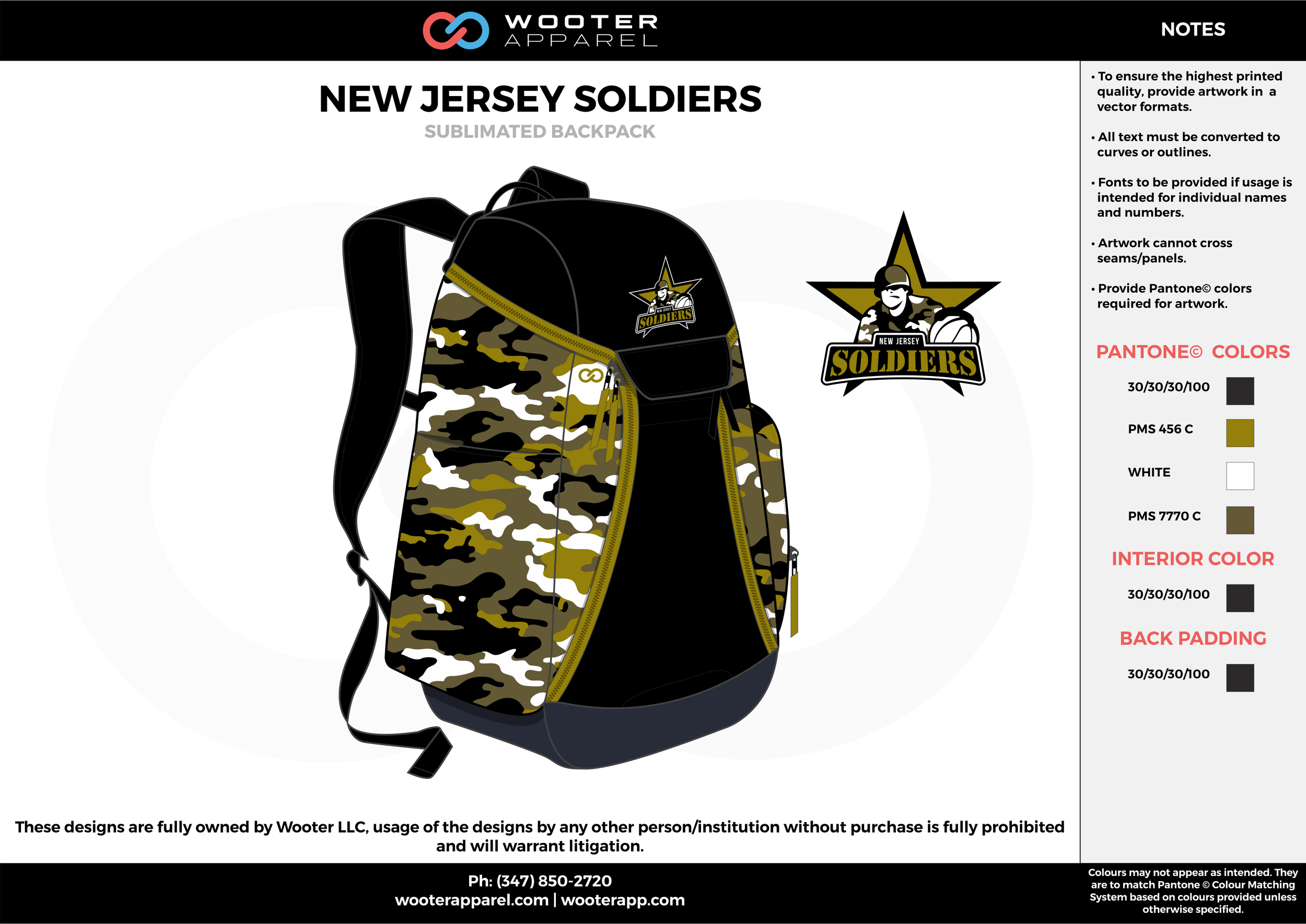 NEW JERSEY SOLDIERS black gold white gray  Custom Basketball Backpacks, Bags, Nike Elite Bags