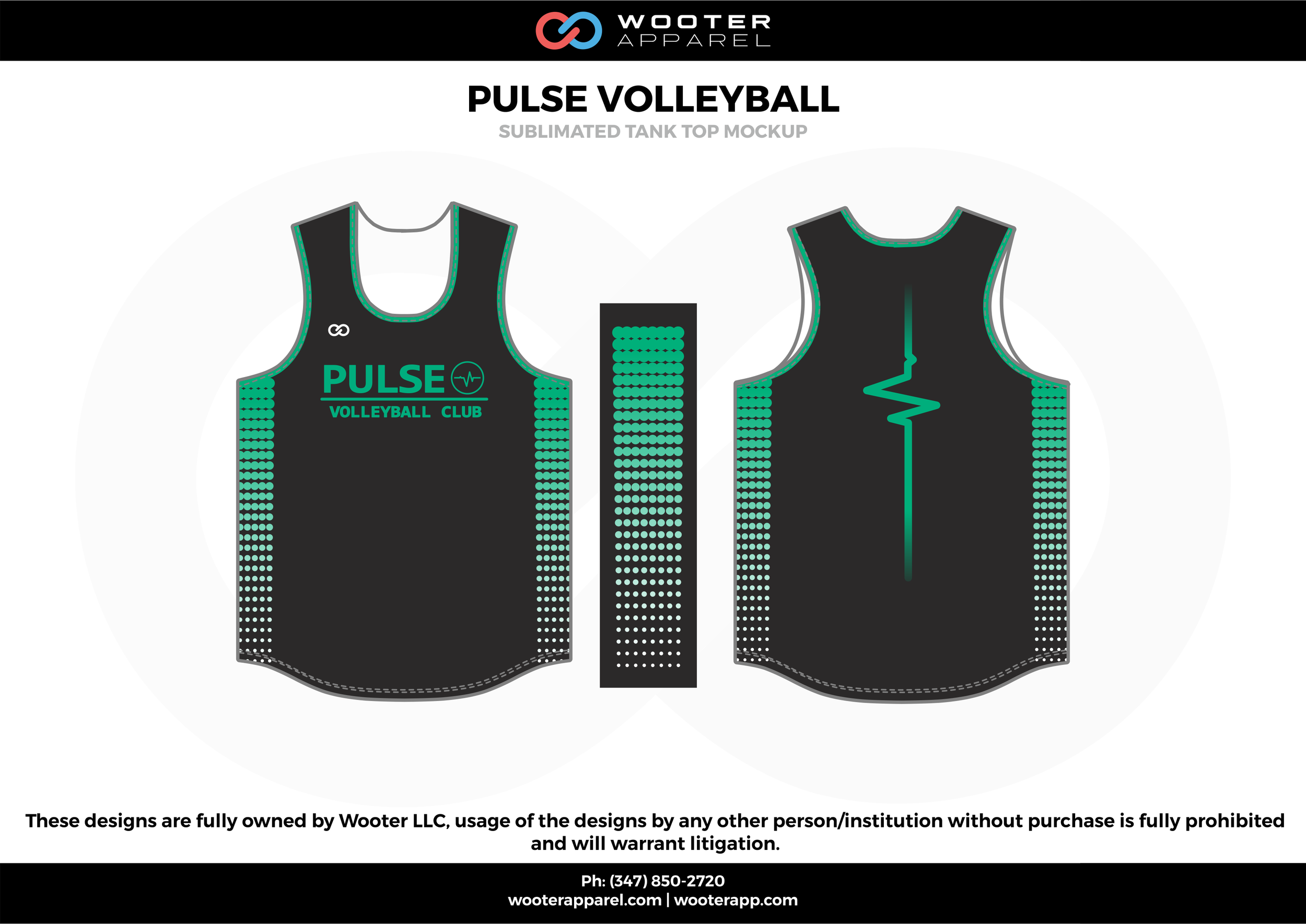 PULSE VOLLEYBALL black green Volleyball Uniforms, Jerseys, Shorts