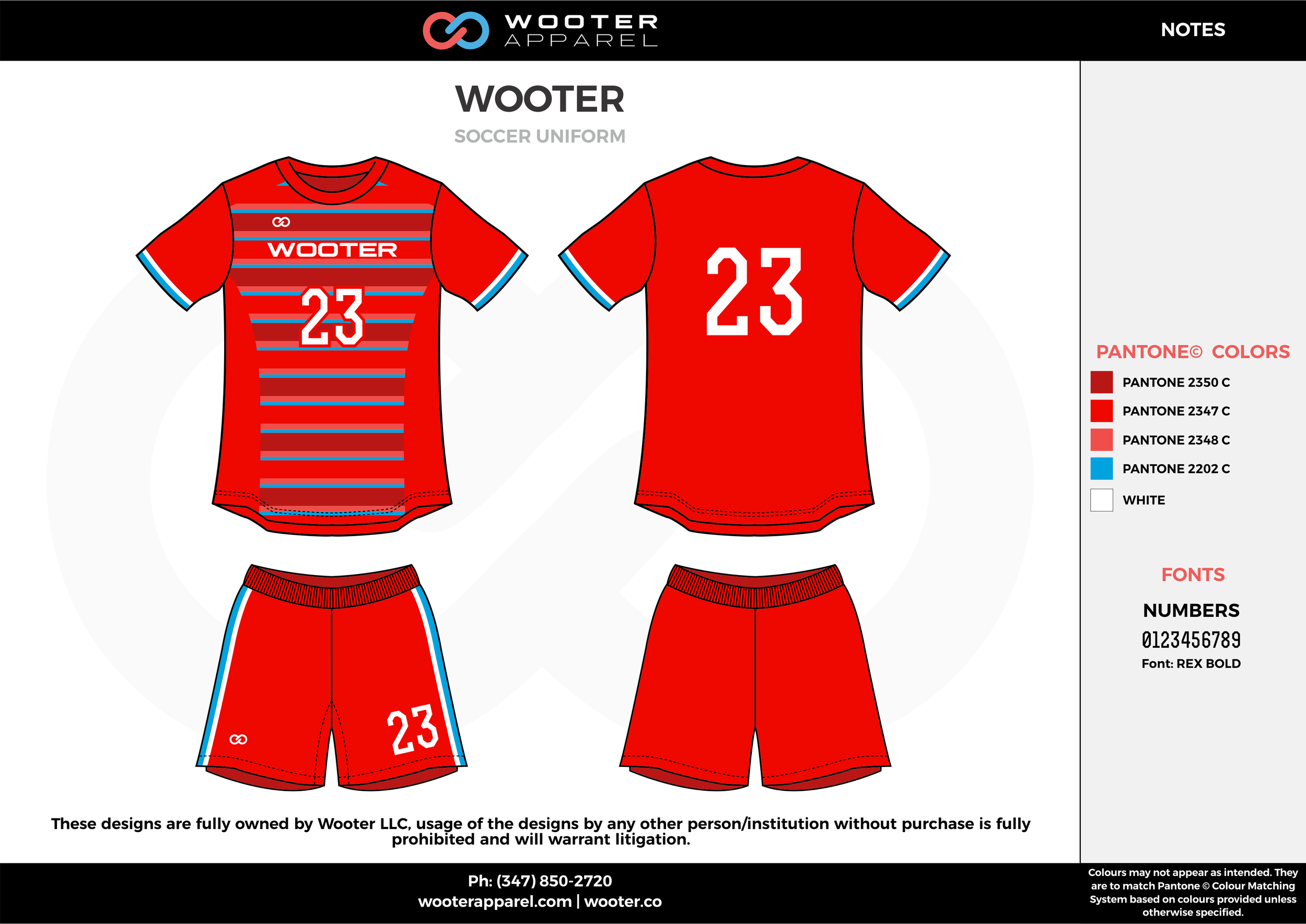 WOOTER red blue custom sublimated soccer uniform jersey shirt shorts