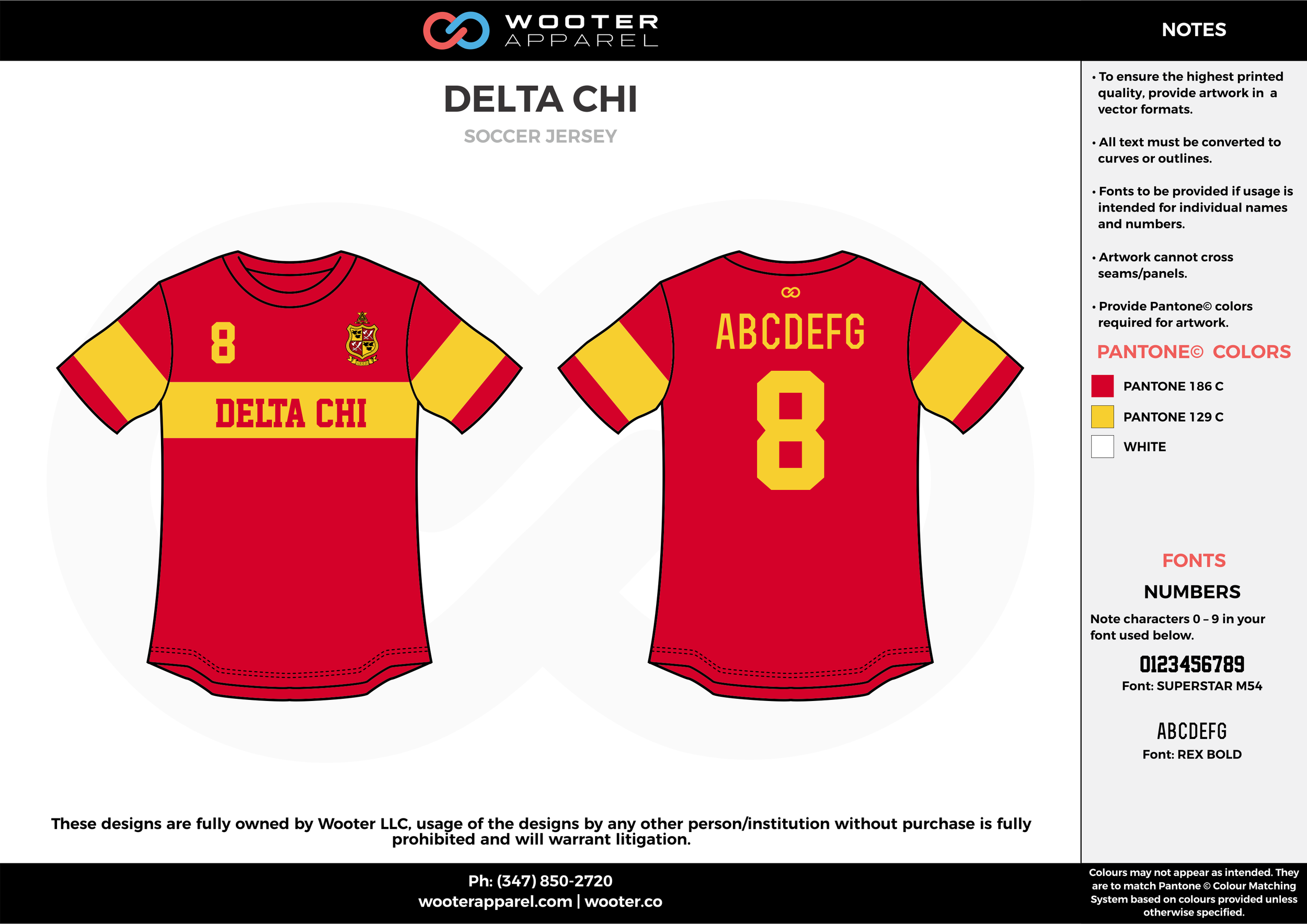 DELTA CHI red yellow custom sublimated soccer uniform jersey shirt