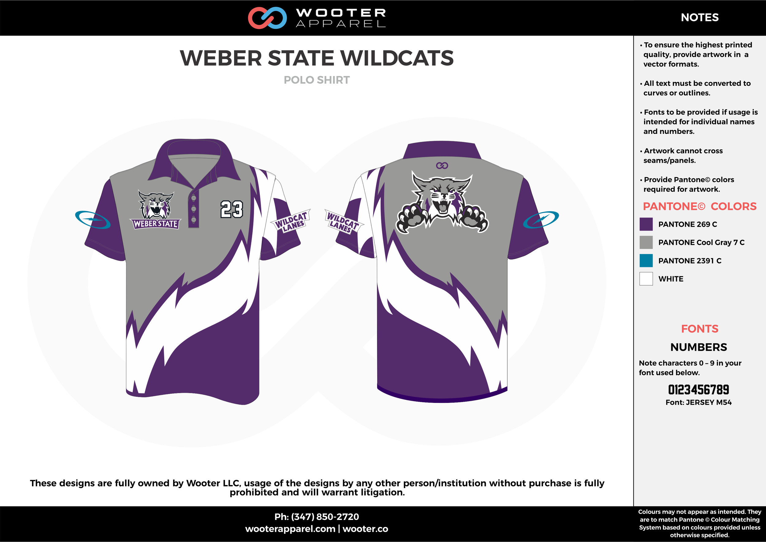 WEBER STATE WILDCATS gray violet white bowling uniforms, shirts, quarter zip polo