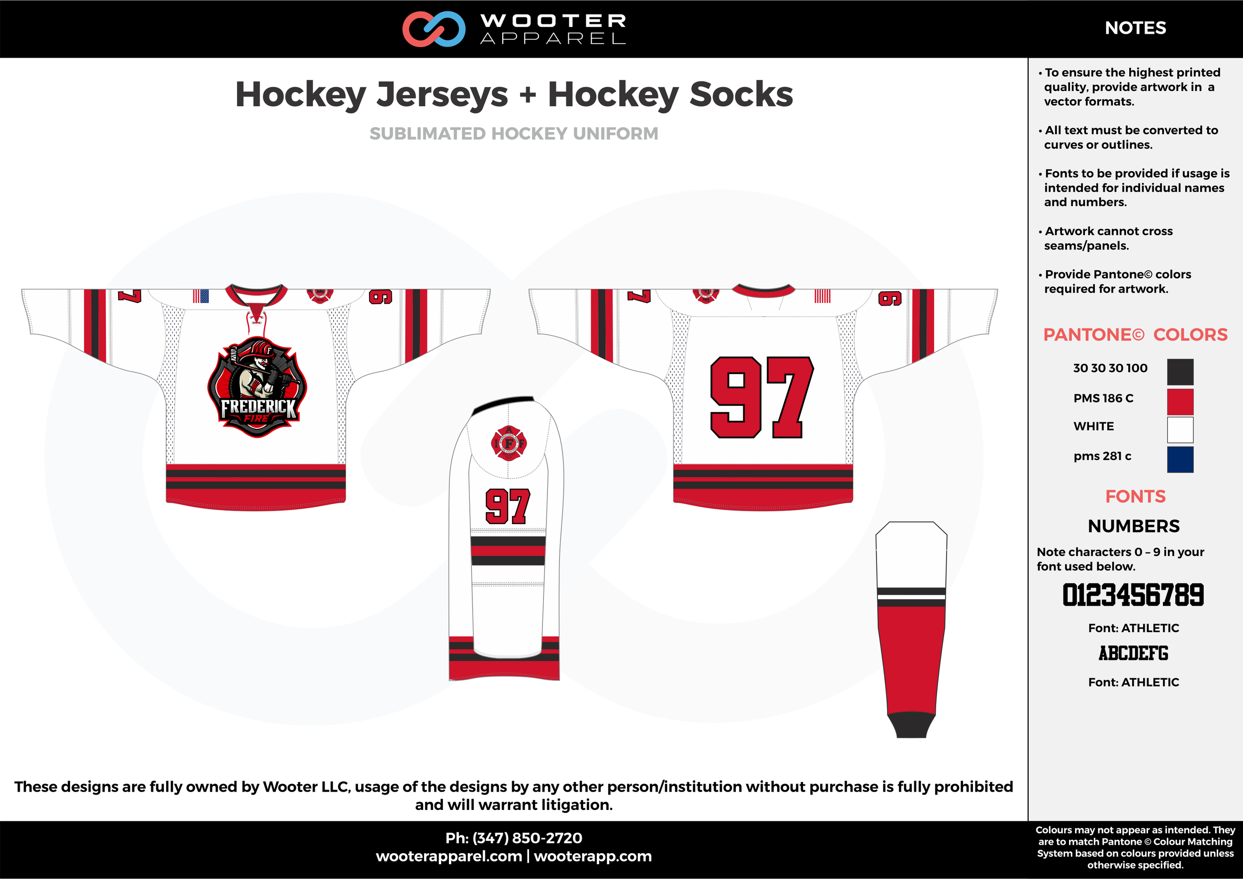 Hockey Jersey + Hockey Socks white red blue black hockey uniforms jerseys socks