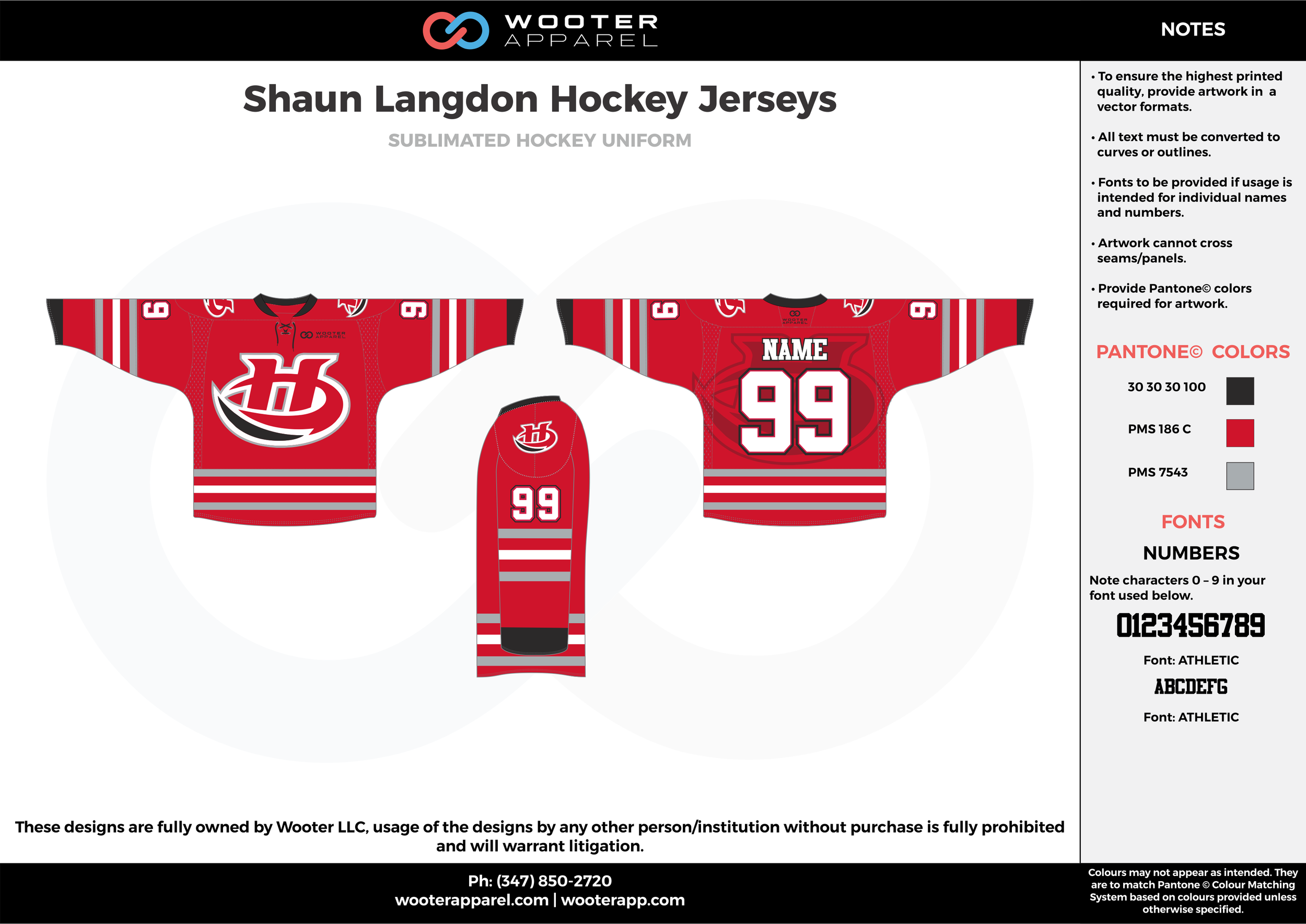 Shaun Langdon Hockey Jerseys red black gray white hockey uniforms jerseys socks