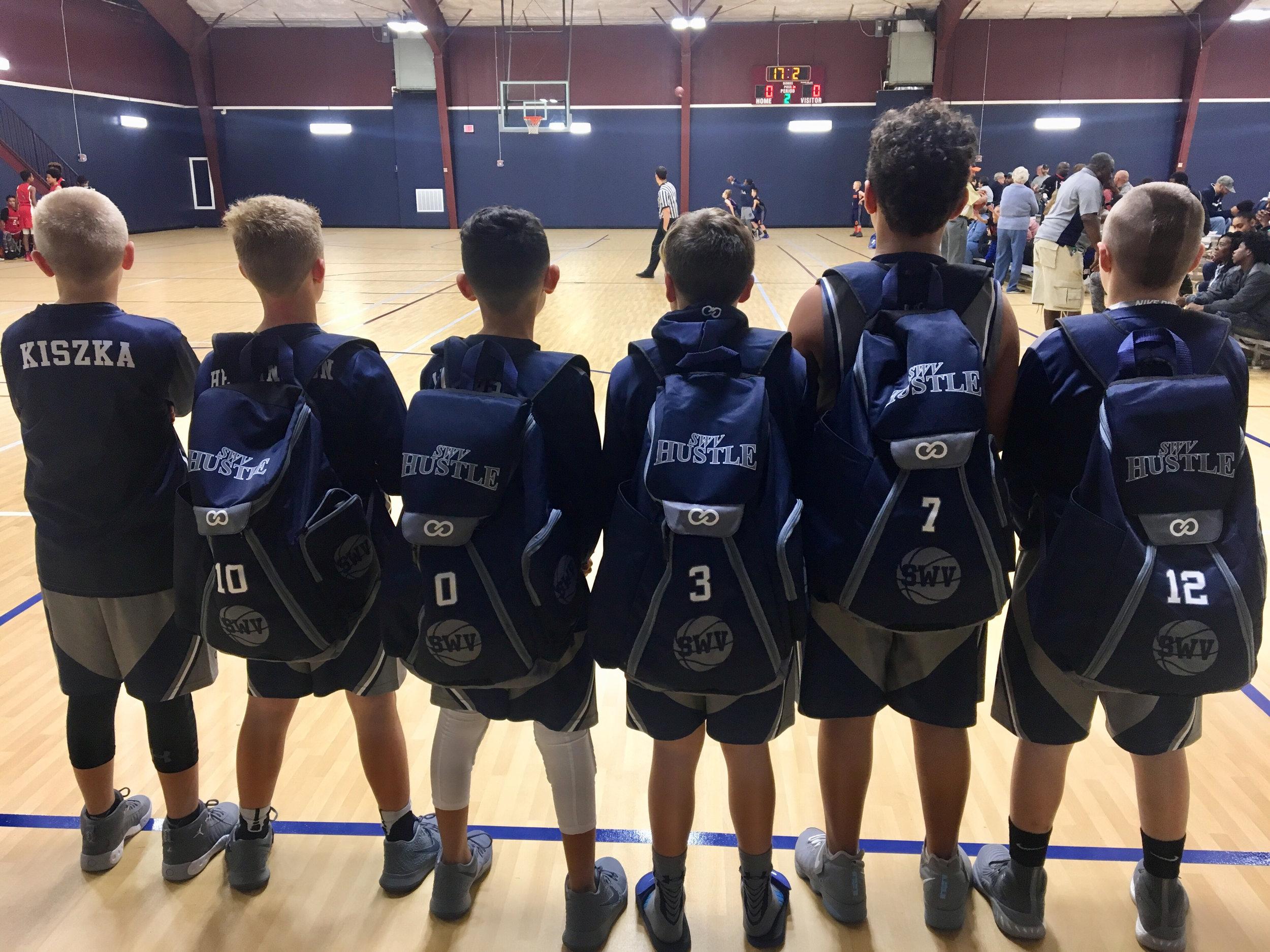 Navy Blue Beige White  basketball, baseball, backpacks