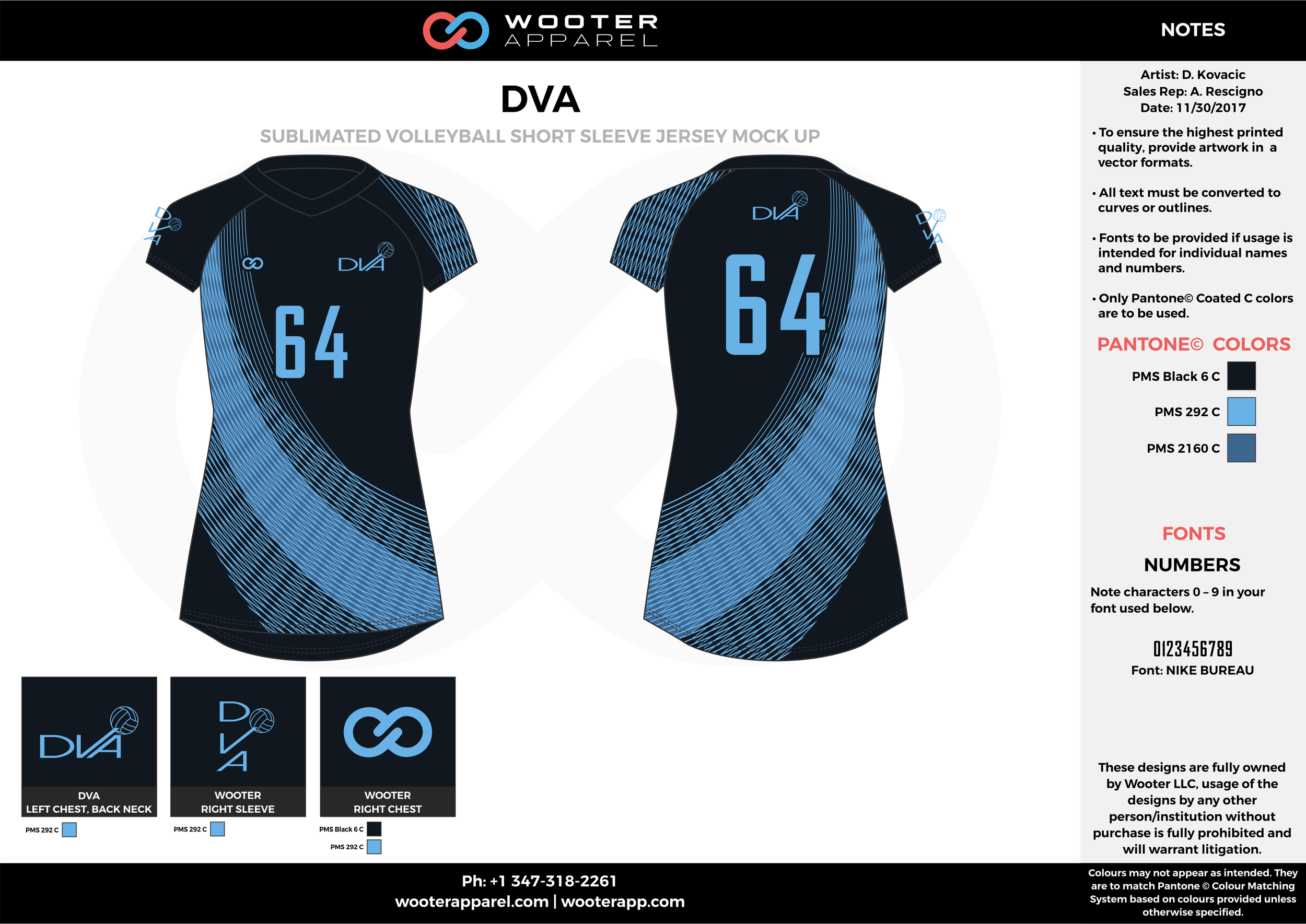 DVA sky dark blue black Volleyball Uniforms, Jerseys, Shorts