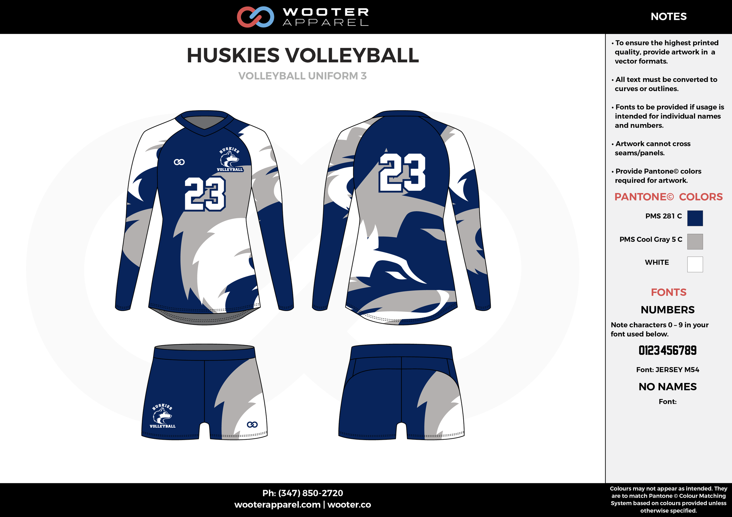 HUSKIES VOLLEYBALL white blue gray Volleyball Uniforms, Long Sleeve Jerseys, Shorts