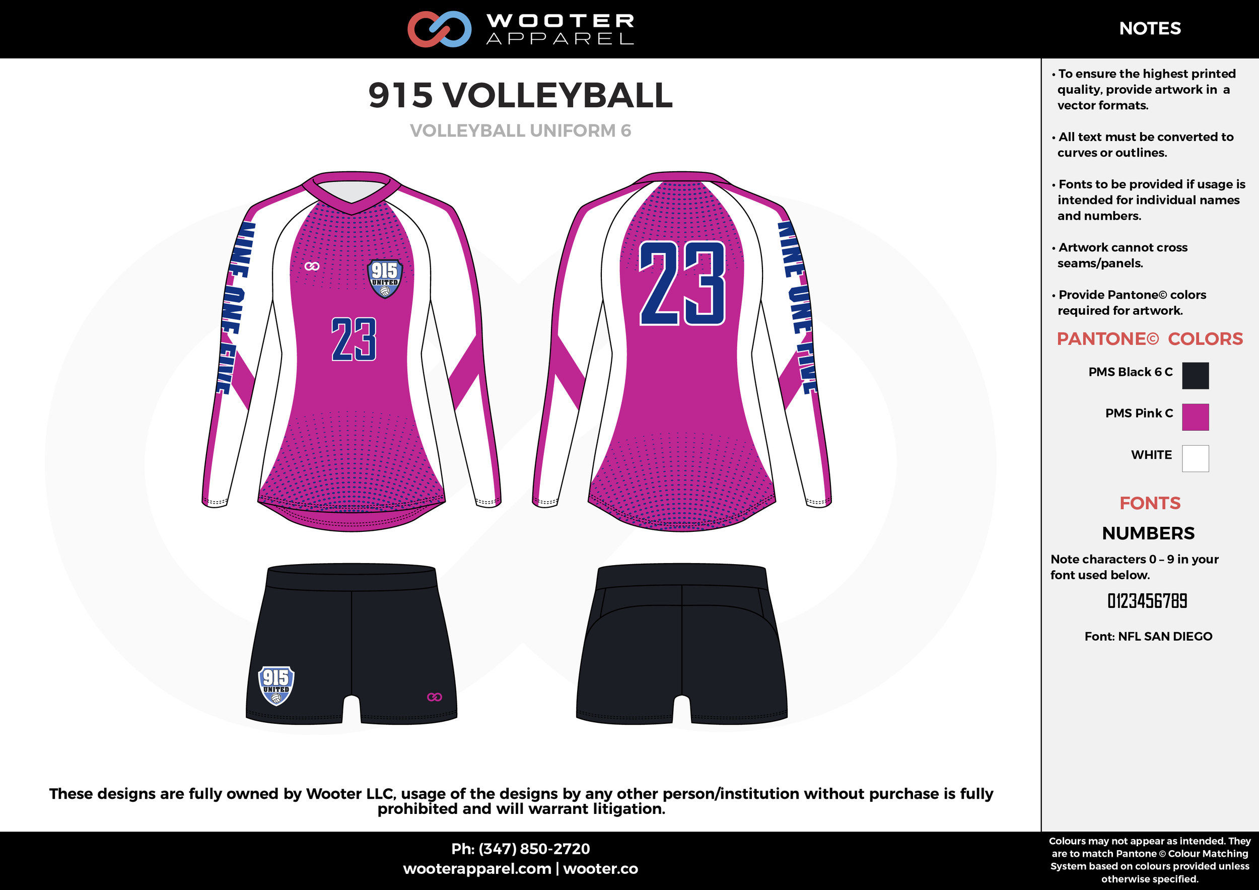 915 VOLLEYBALL pink black white Volleyball Uniforms, Long Sleeve Jerseys, Shorts